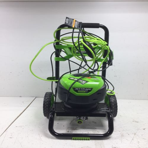 Green Works 2300 Greenworks Pro 2300-PSI Cold Water Electric Pressure Washer JettFlow Technology Green