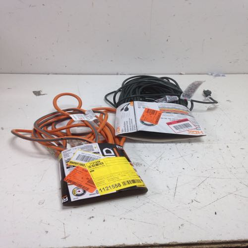 Mixed Lot of 2 Ridgid Contractor Grade Indoor/outdoor Extension Cord  size 25 ft