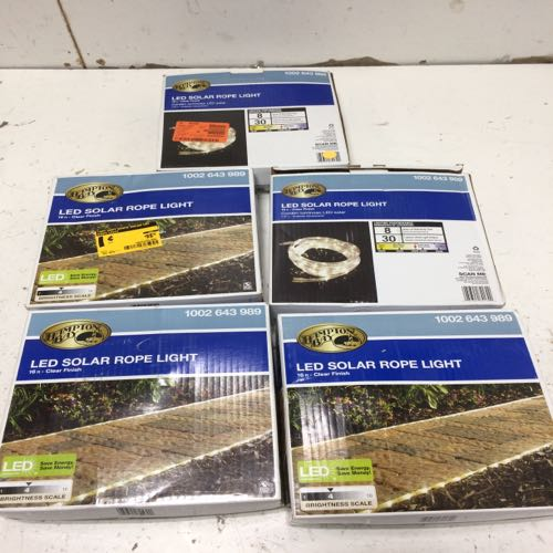 Mixed Lot of 5 Hampton Bay Led Solar Rope Lights