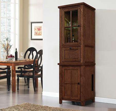 Bell'O EC9740LS22-O107 EC9740US22-O107 Dakota Universal Upper/Lower Cabinet Set  Premium Oak