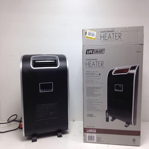 Life Smart MCHT1141US Zone Series Quartz Infrared Heater Large Room 1500w Black