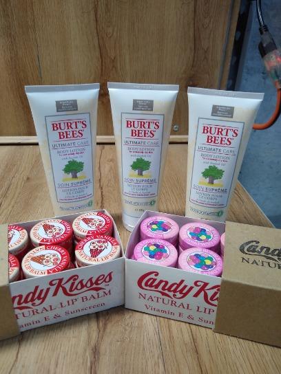 Candy Kisses Lip Balm Burt's Bees Body Lotion Lot