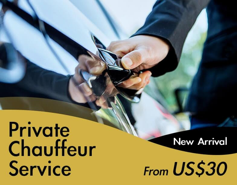 New Arrival! 8hrs Chauffeur Service, Only From US$30