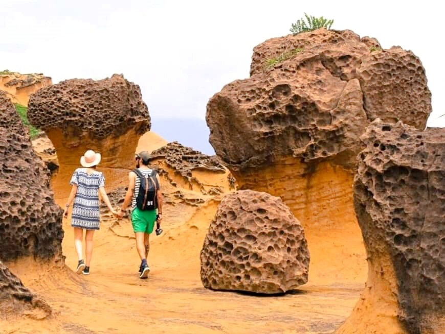 Wander among the magical rock formations of Yehliu Geopark