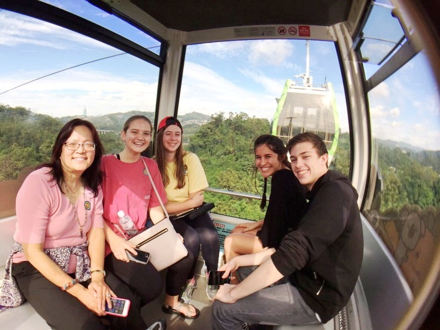 Enjoy a scenic ride over the mountains on the Maokong Gondola