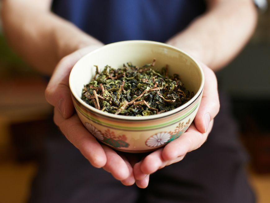 Tea taste and learn tea ceremony in the tea house