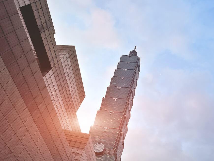 Iconic Taipei 101 building