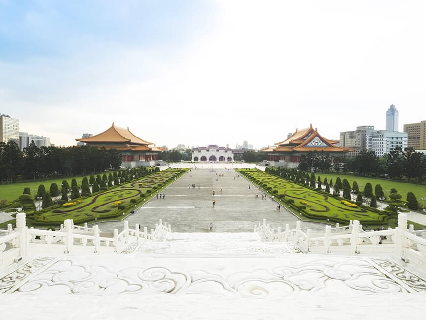 Explore Democracy Plaza and Chiang Kai-Shek Memorial Hall