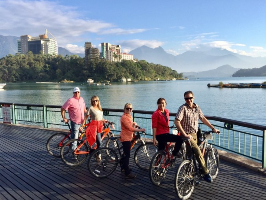 Cycling around Sun Moon Lake (listed as one of the top ten cycling routes in the world by CNN Travel)