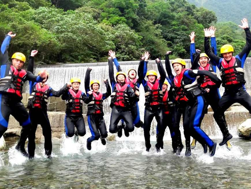 Go river tracing through one of three beautiful Hualien rivers