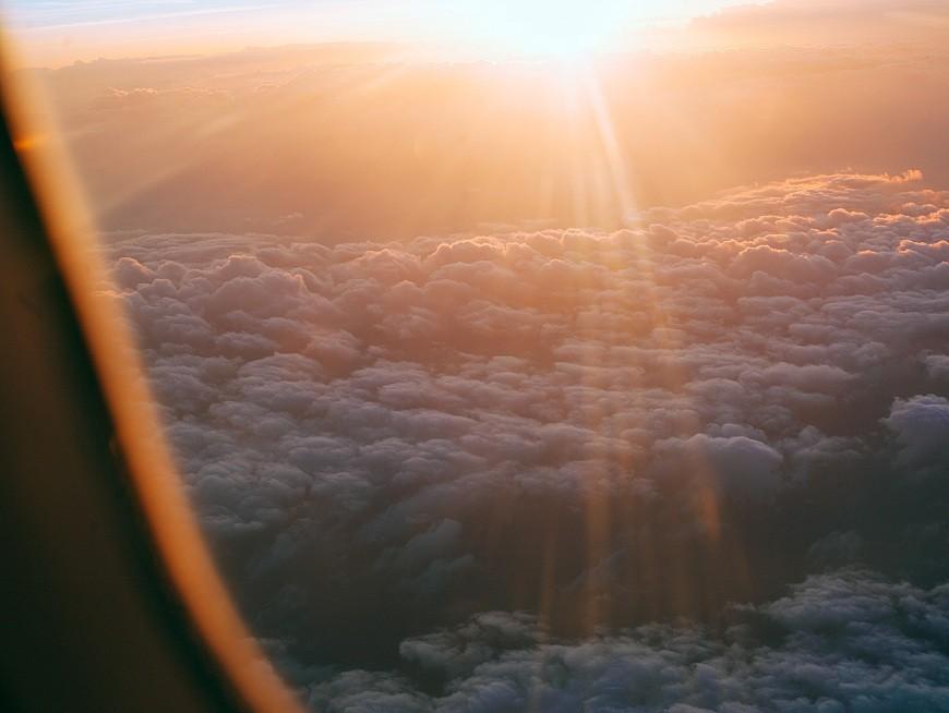 Private chartered dawn flight