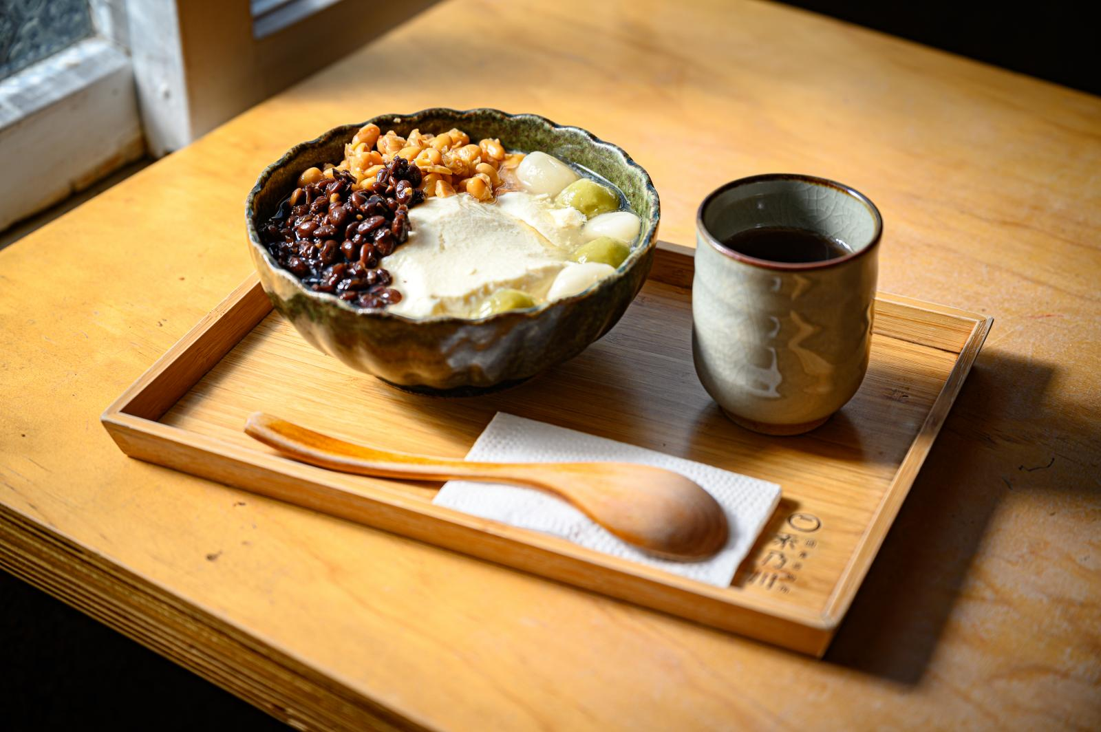 Try delicious desserts at a local tofu shop