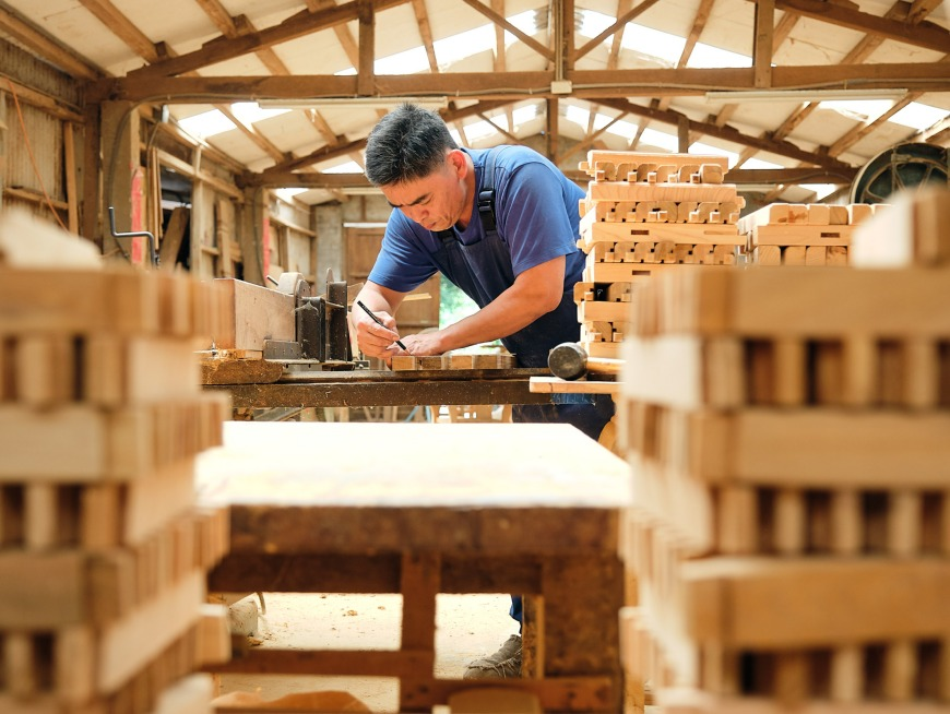 Local woodmasters in Yilan