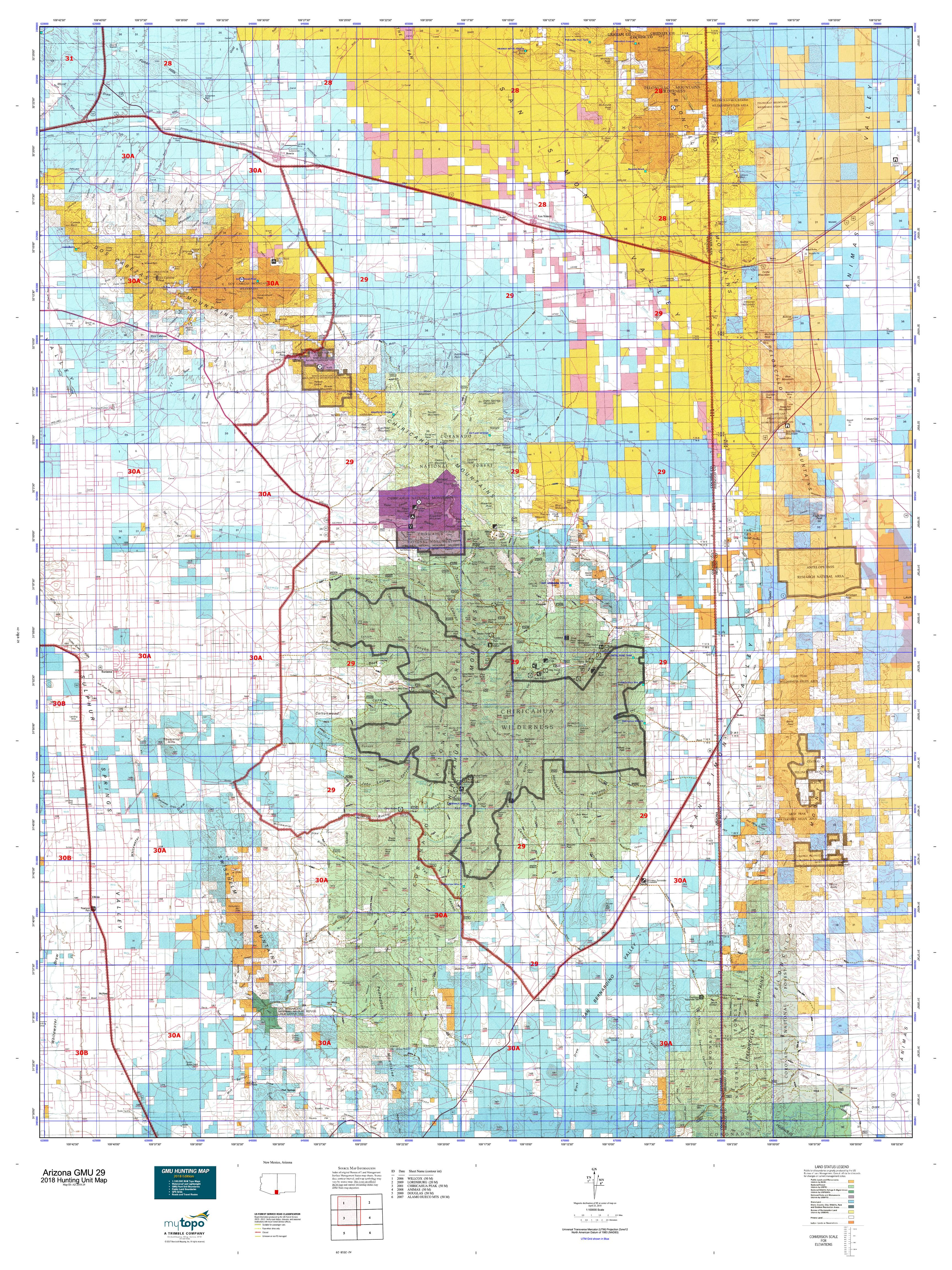 Arizona GMU 29 Map | MyTopo