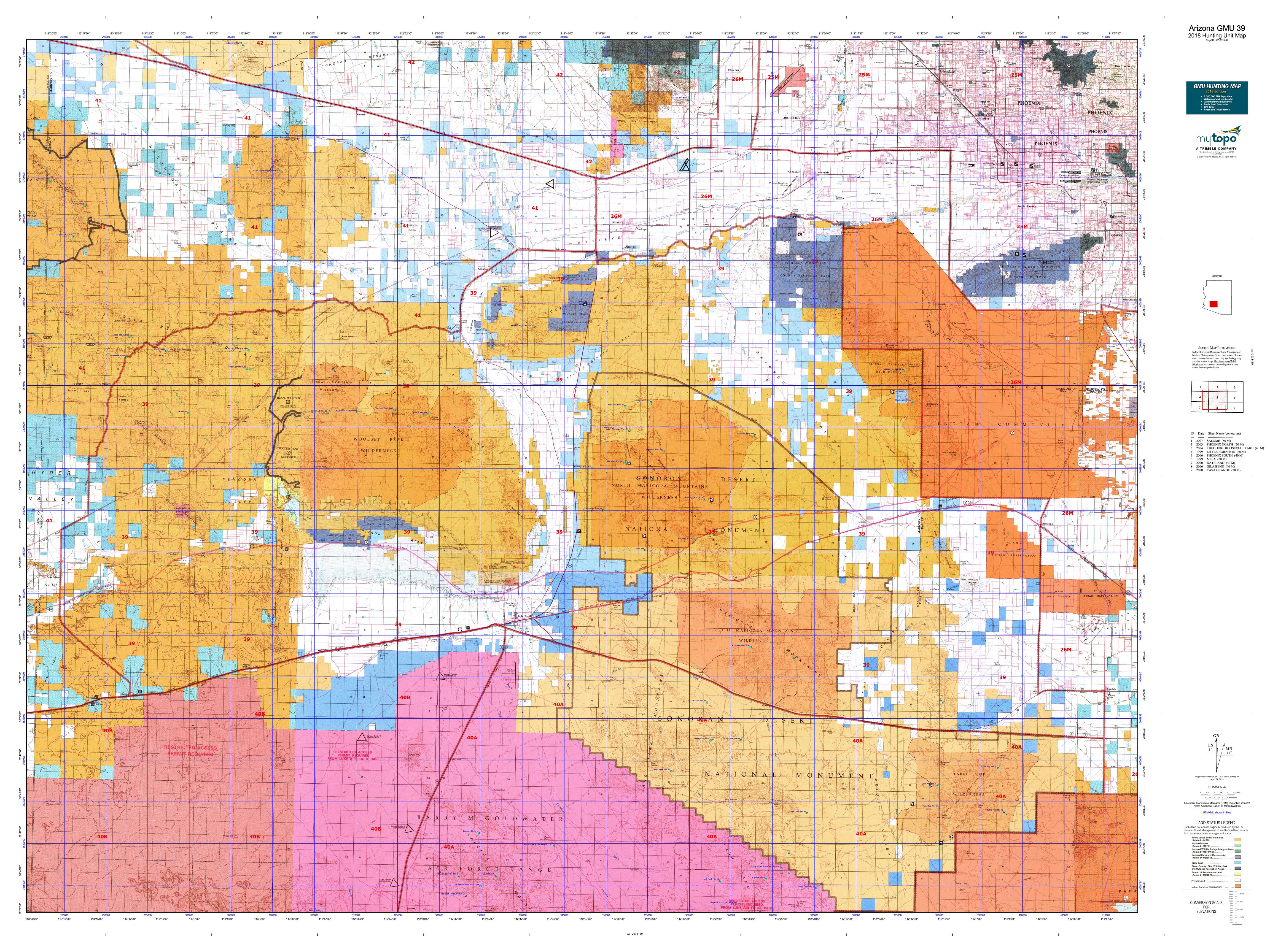Arizona GMU 39 Map | MyTopo