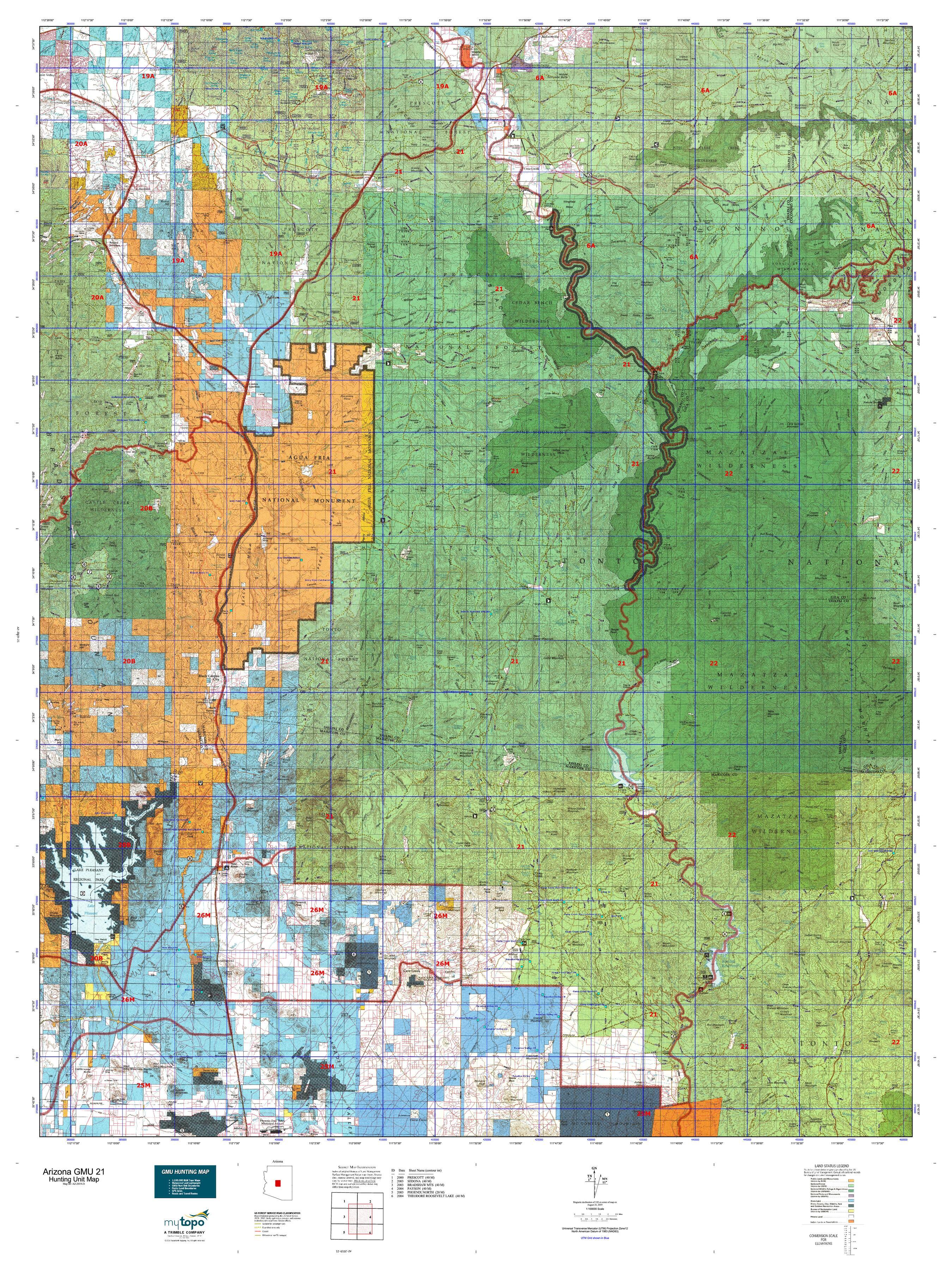 Arizona GMU 21 Map | MyTopo