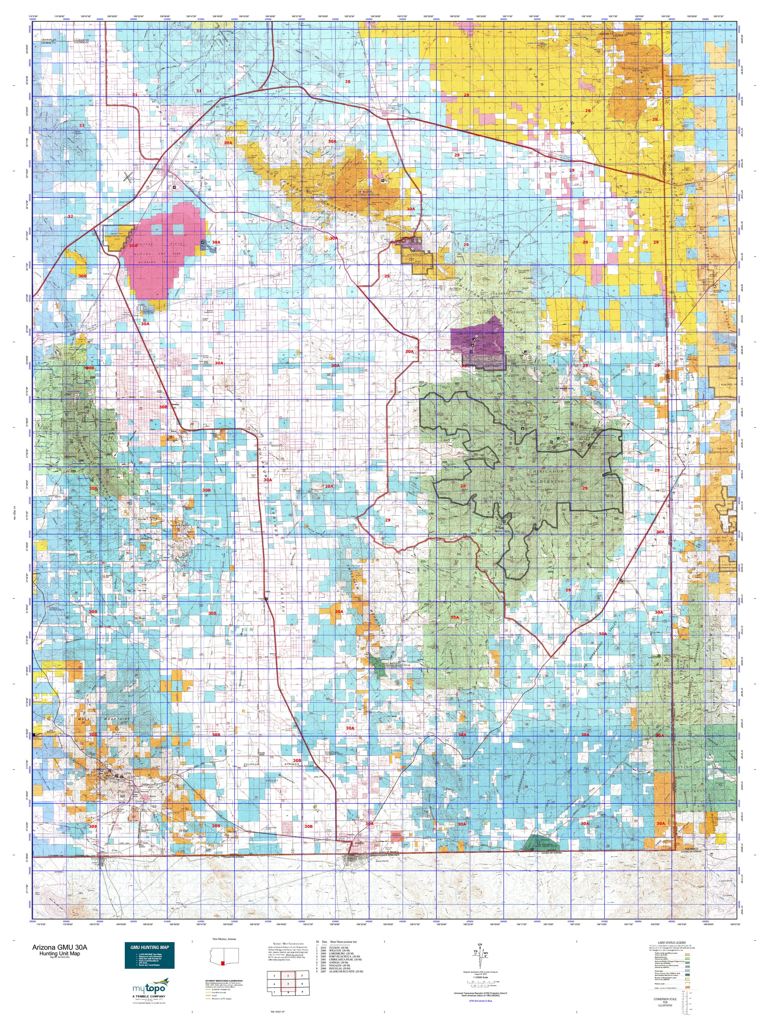 Arizona GMU 30A Map | MyTopo