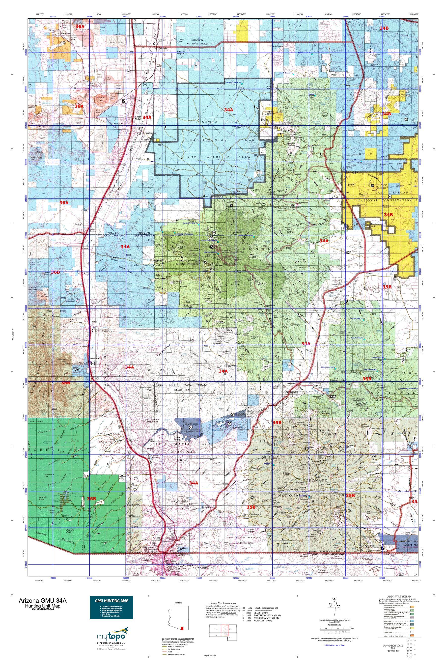 Arizona GMU 34A Map | MyTopo on nc map, ms map, ks map, mo map, mn map, arizona hwy map, arizona fun map, nv map, ma map, new mexico map, southern desert map, arizona wildlife map, ut map, or map, ae map, kr map, iowa map, wy map, ok map, arizona road map,