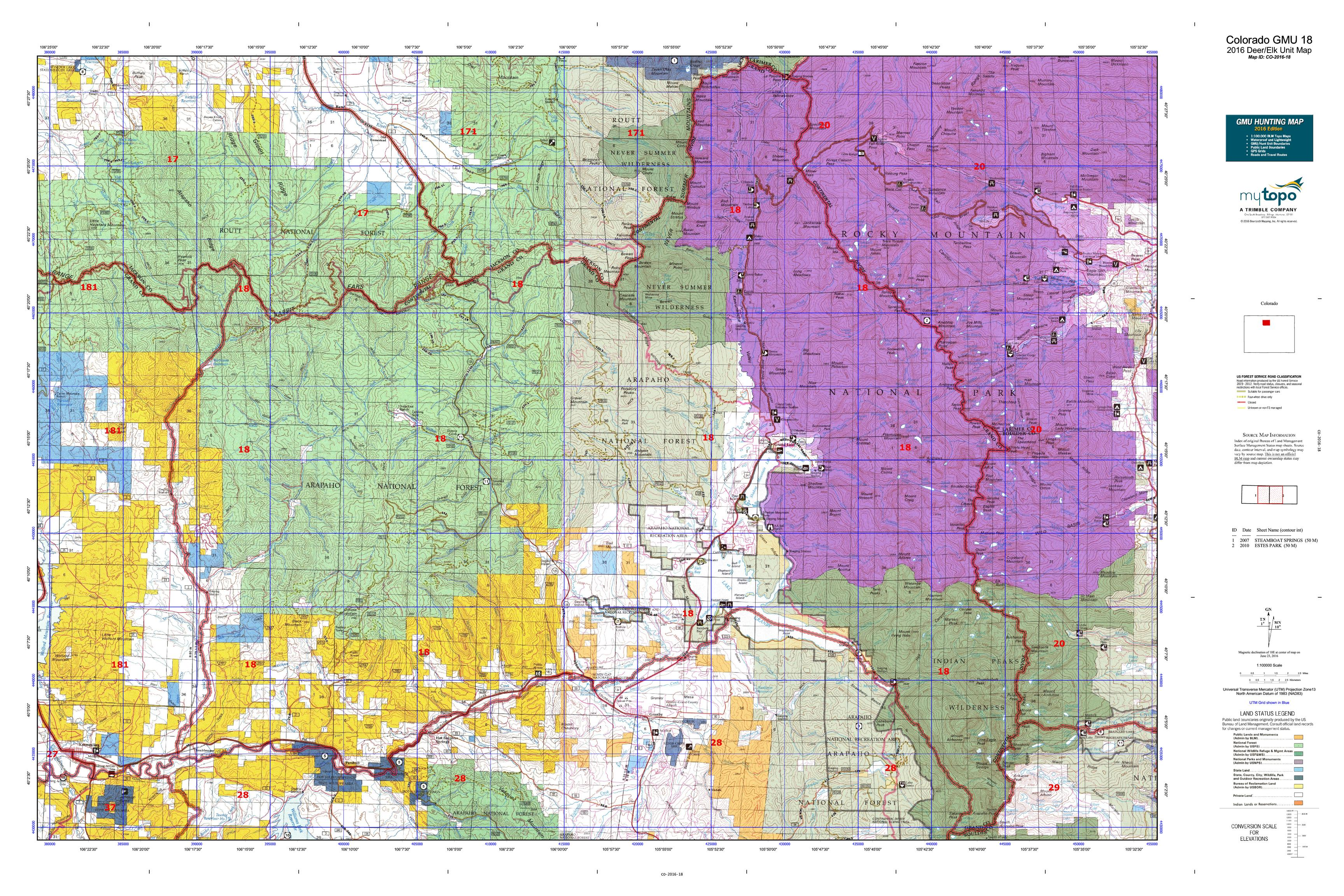 Colorado GMU 18 Map  MyTopo