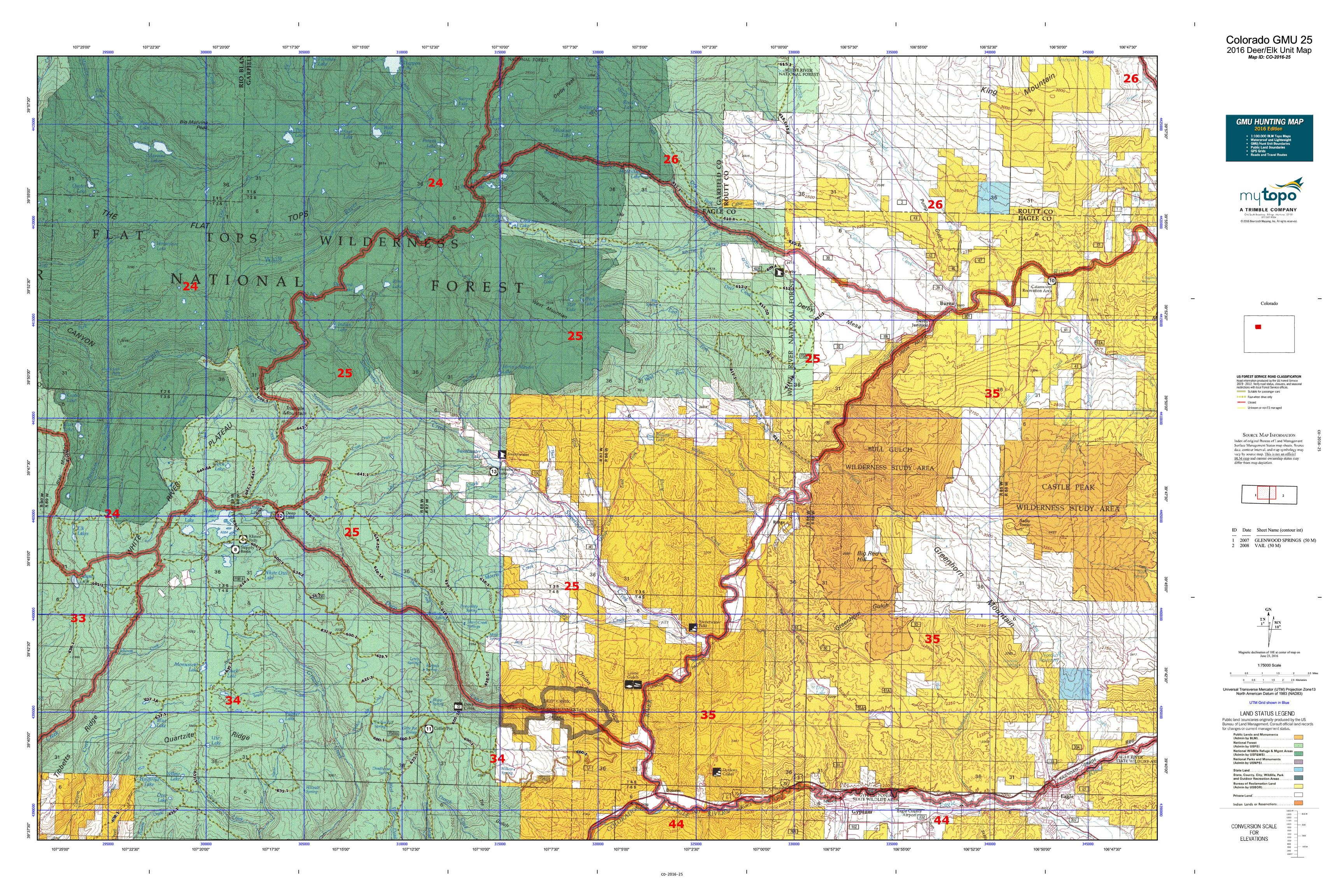 Colorado GMU 25 Map  MyTopo