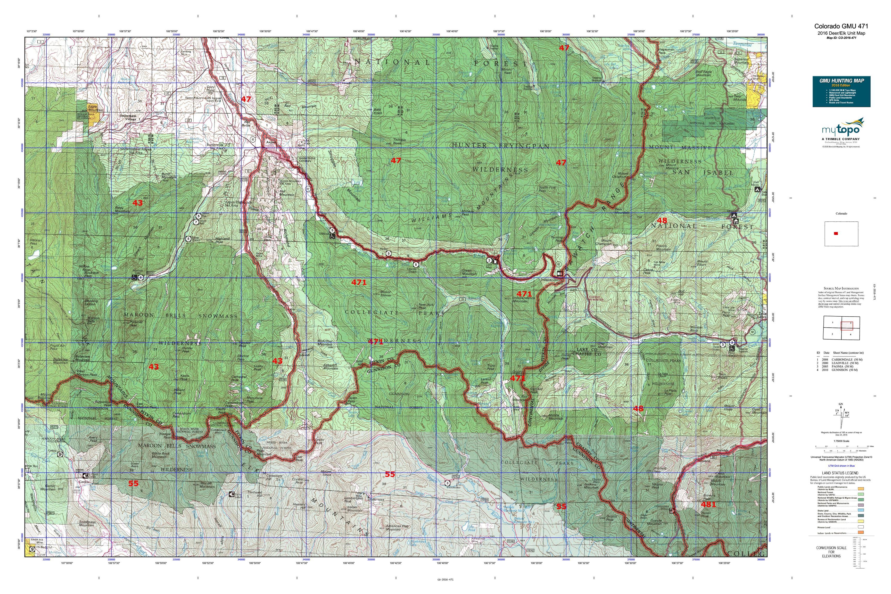 Colorado GMU 471 Map  MyTopo