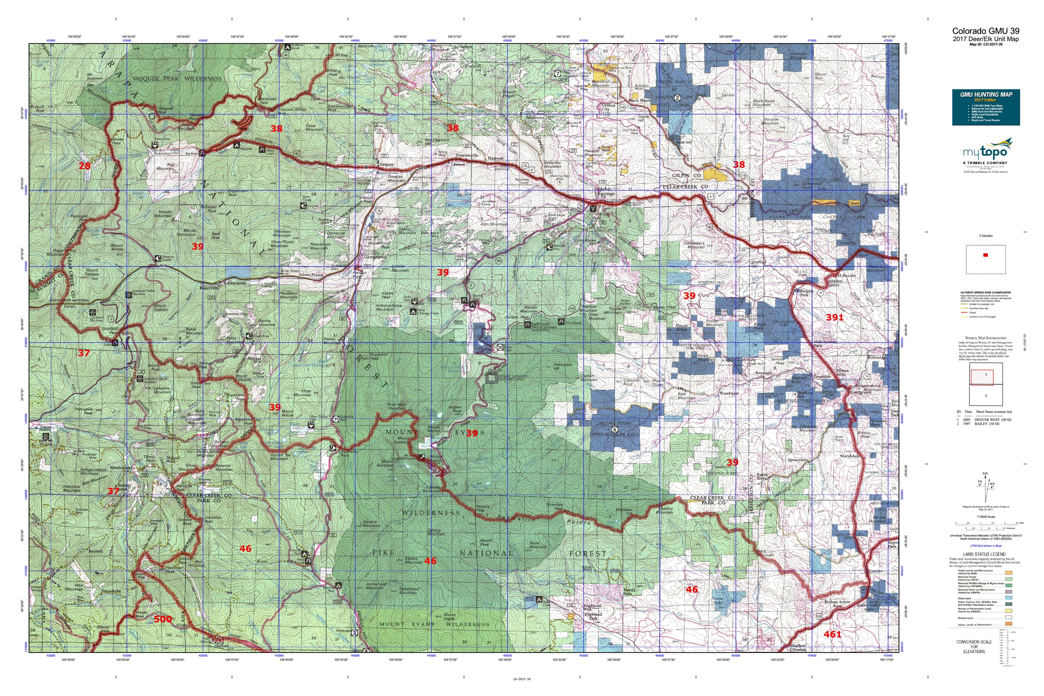 detailed map of colorado with Hunt Area Unit on Itineraire moreover Graph Showing Population Growth Yellowstone Grizzly Bear together with 3 likewise Route 66 in addition 411275 Executioner Cart.