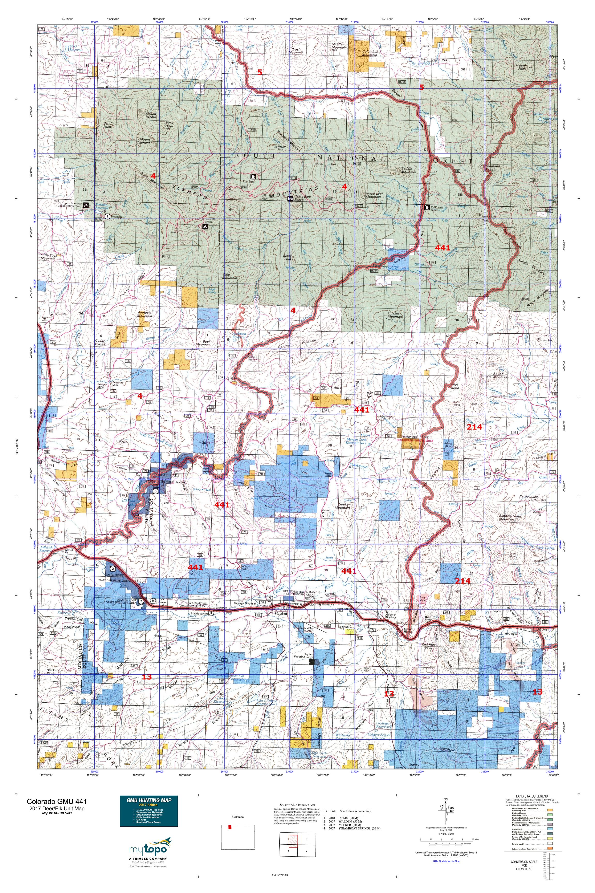 Colorado GMU Map MyTopo - Coloradomap