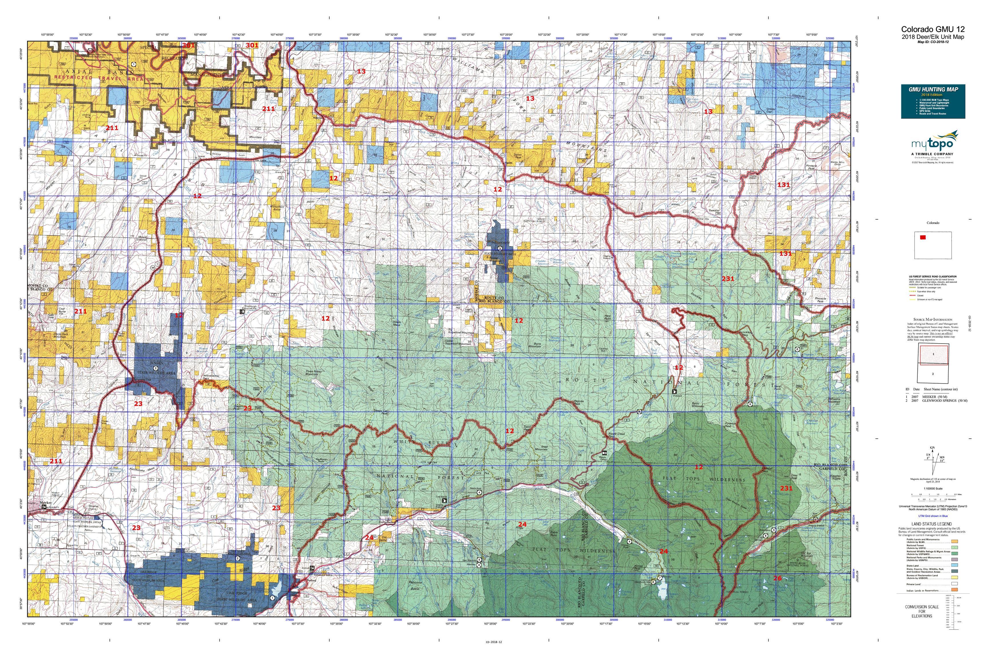 Colorado GMU 12 Map | MyTopo