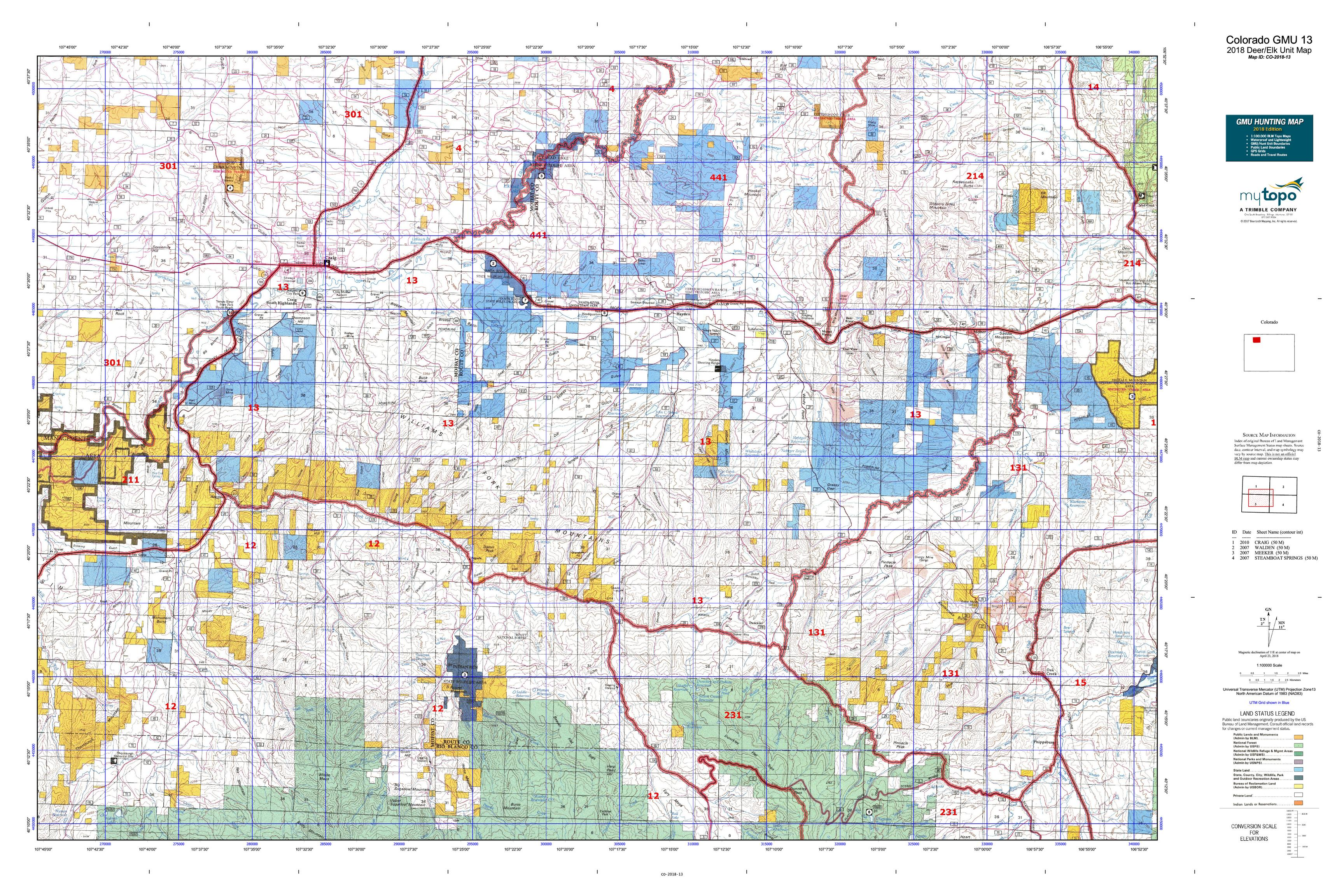Colorado GMU 13 Map | MyTopo