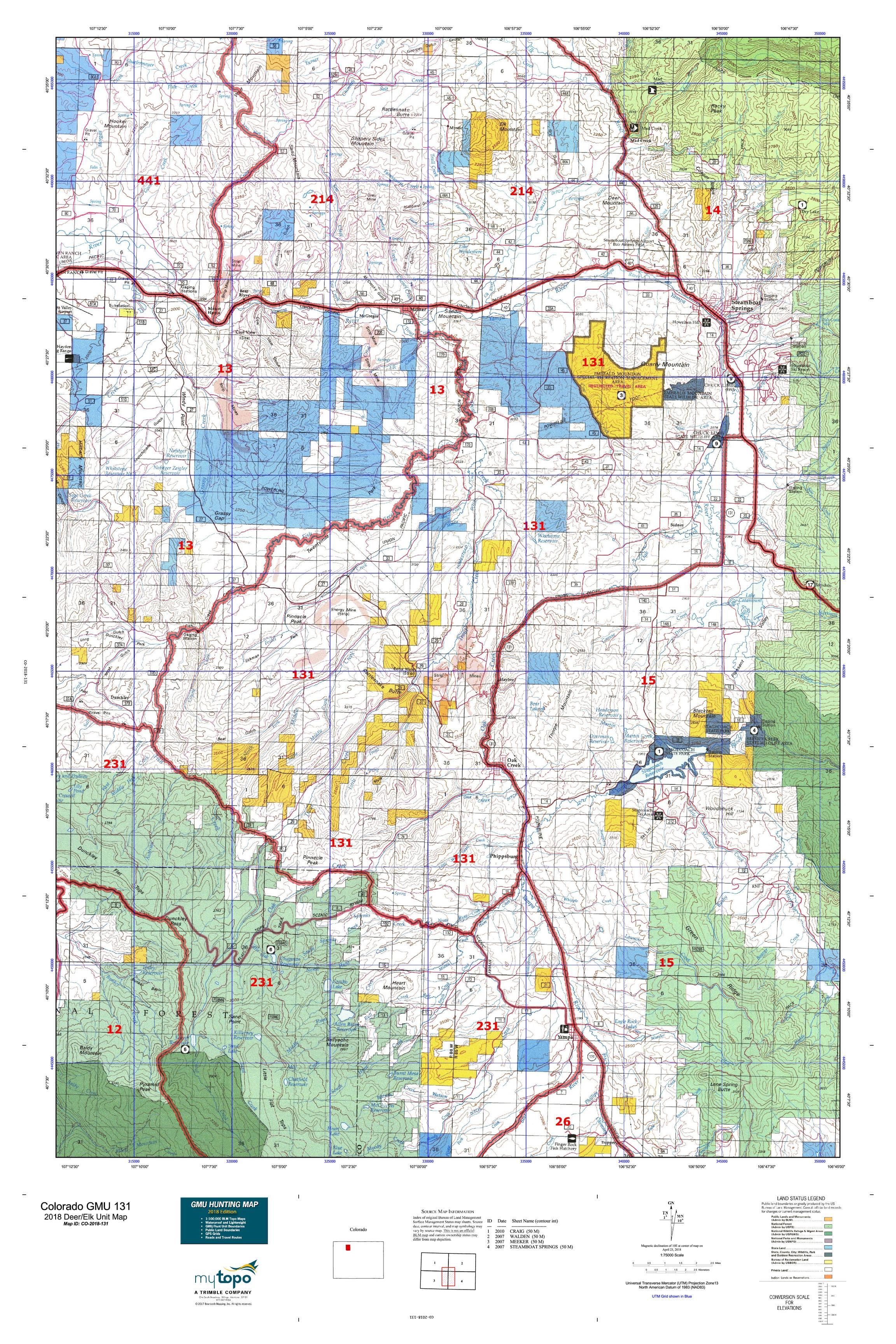 Colorado GMU 131 Map | MyTopo