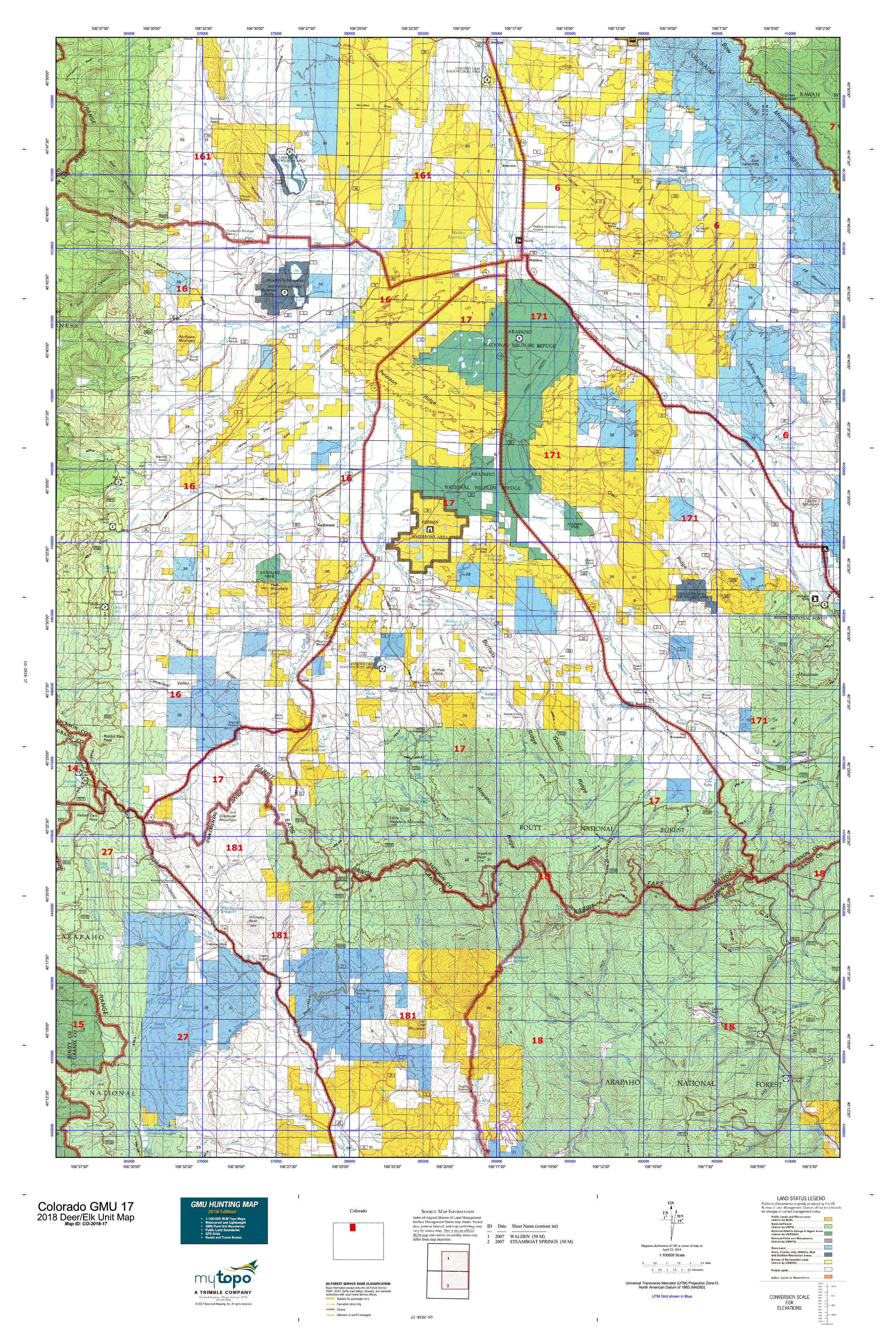 Colorado GMU 17 Map | MyTopo