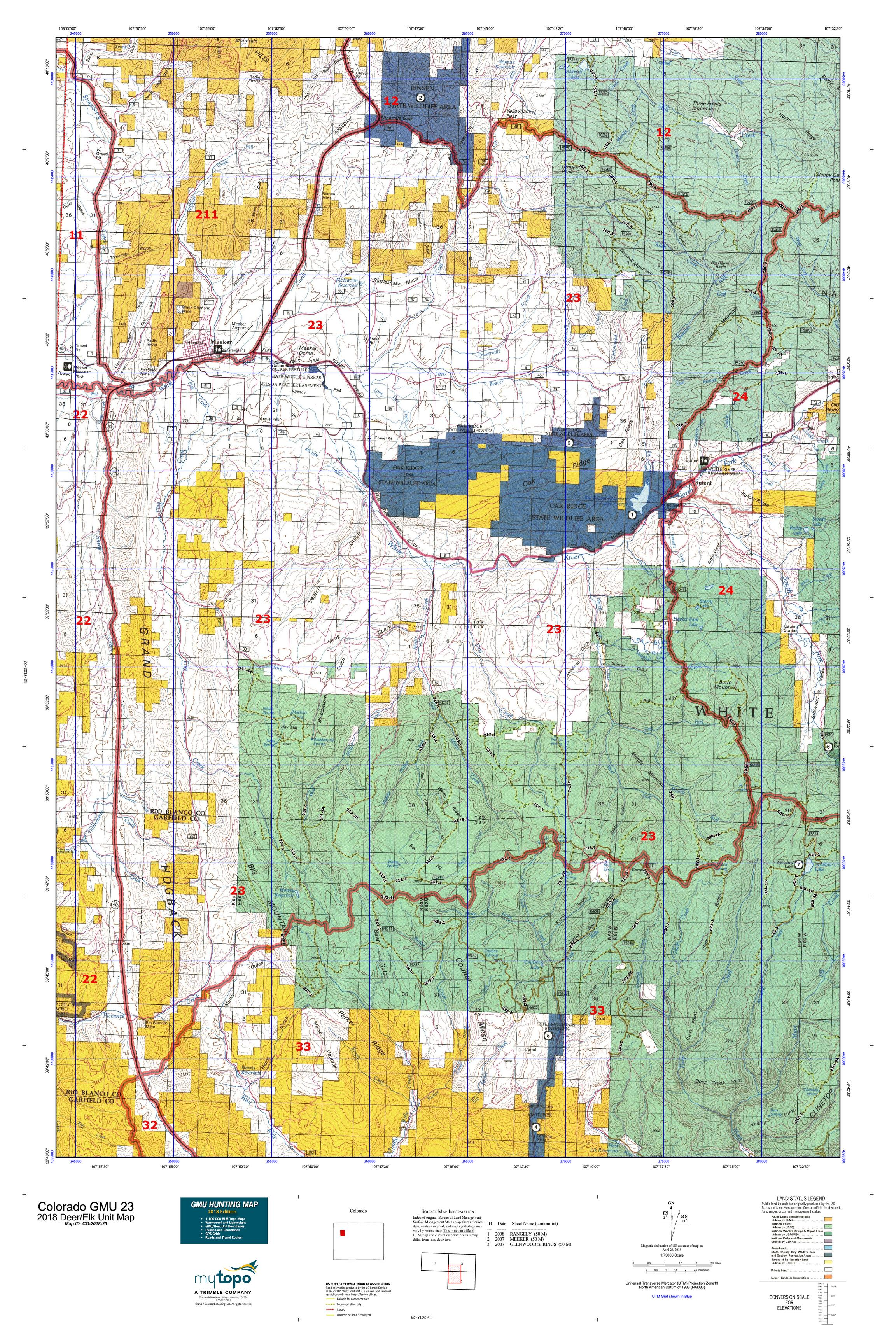 Colorado Gmu 301 Hunting Map eurostar map