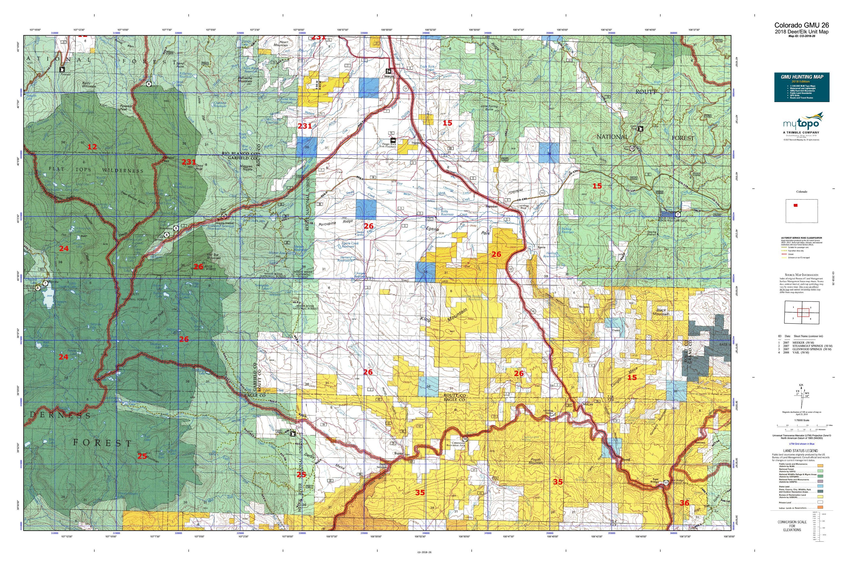 Colorado GMU 26 Map | MyTopo