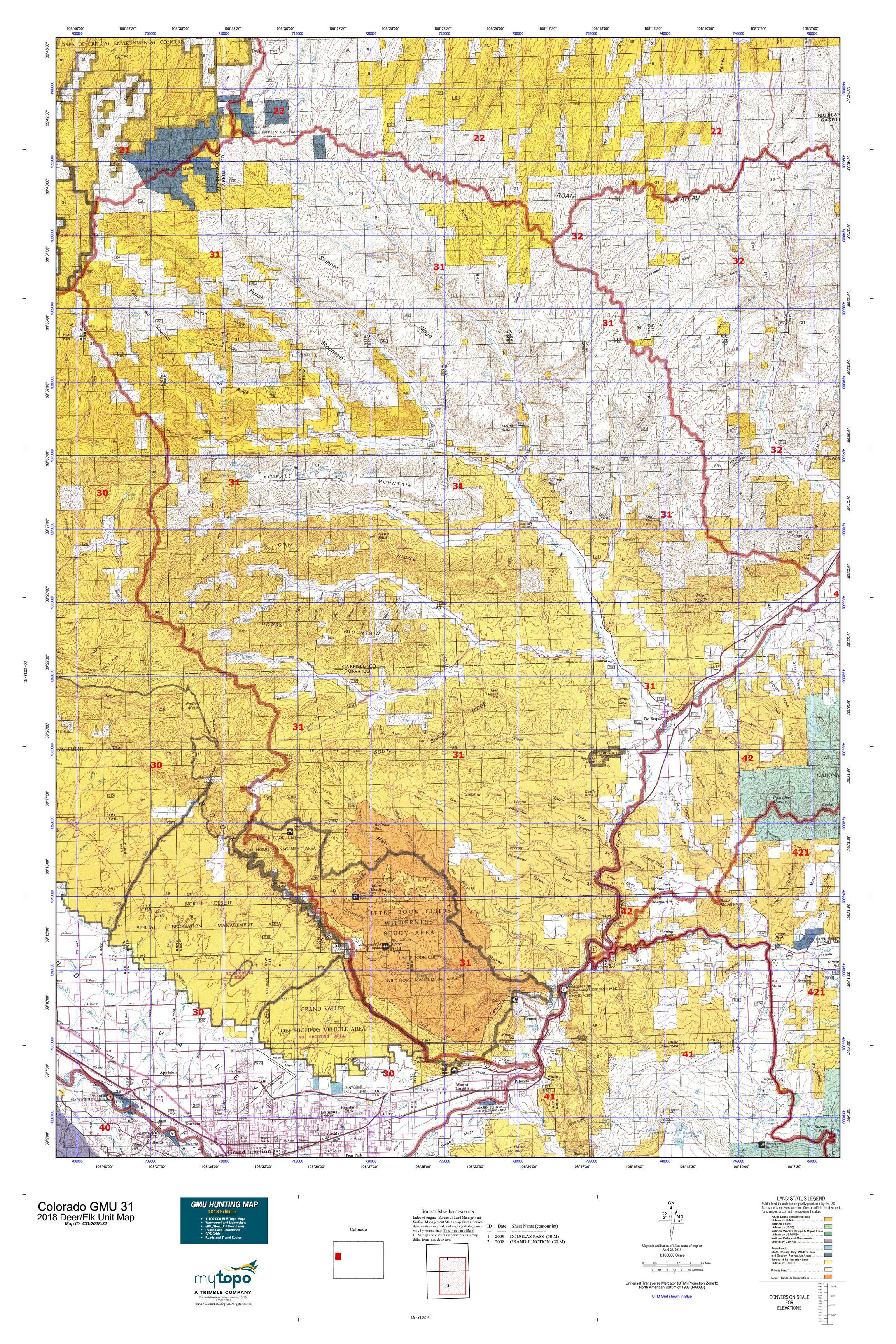 Colorado Gmu 31 Map Mytopo