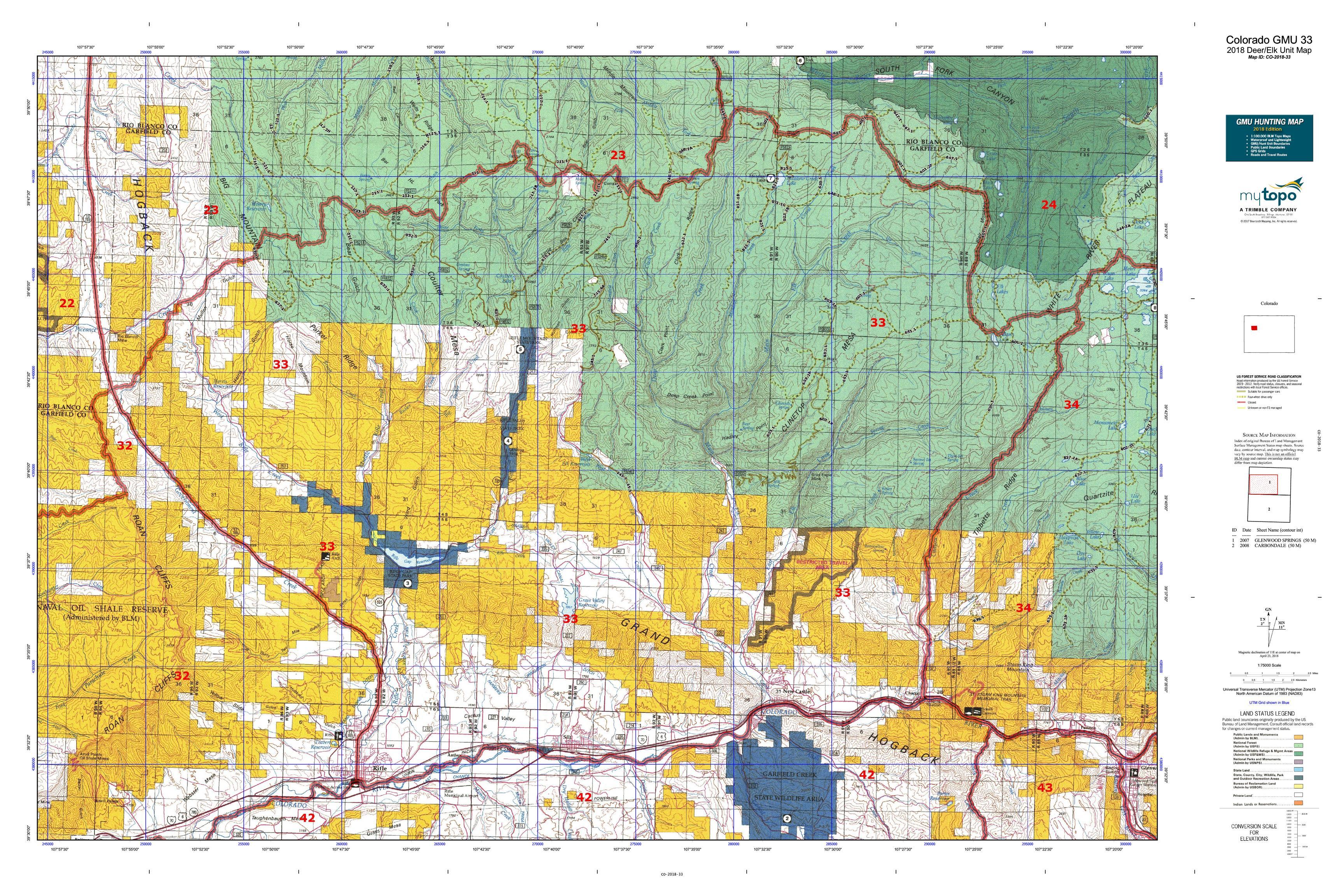 100+ Colorado Elk Hunting Map 2018 – yasminroohi