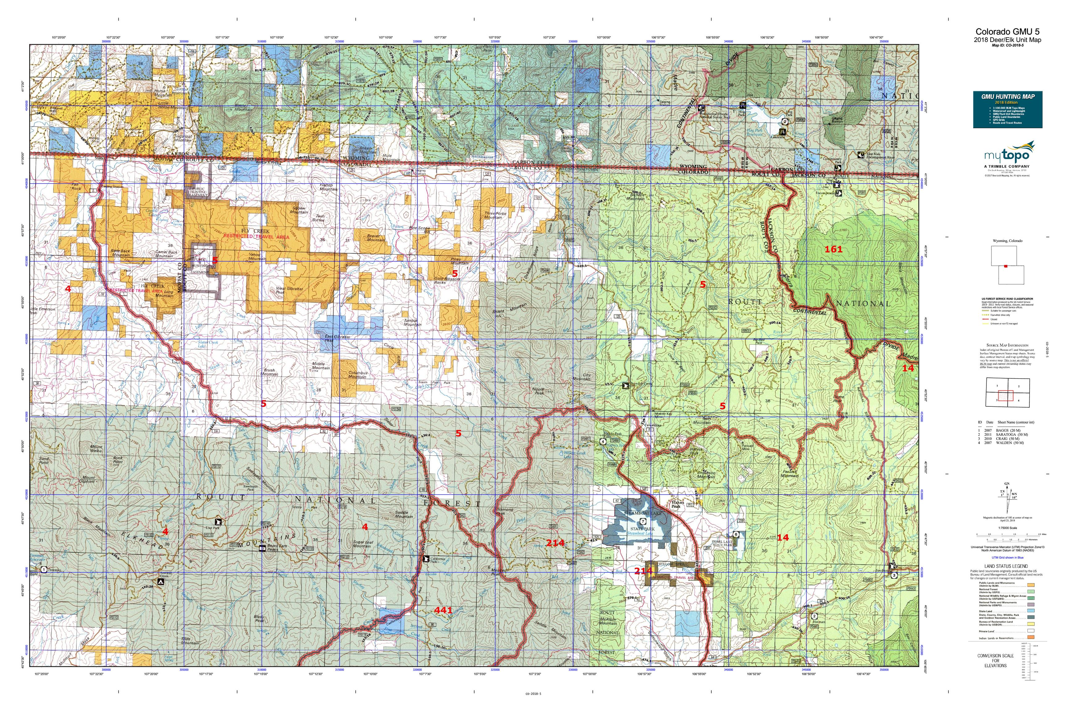 Colorado Gmu 5 Map Mytopo