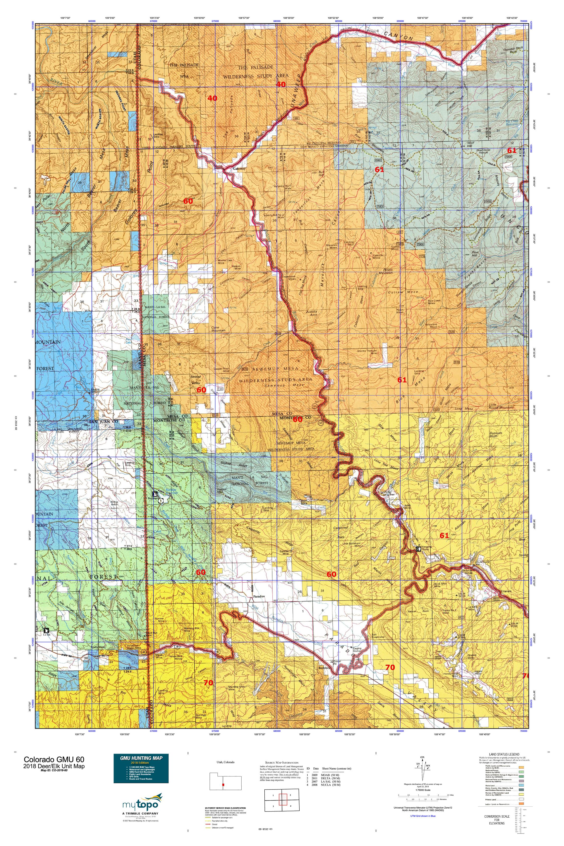 Colorado GMU 60 Map | MyTopo