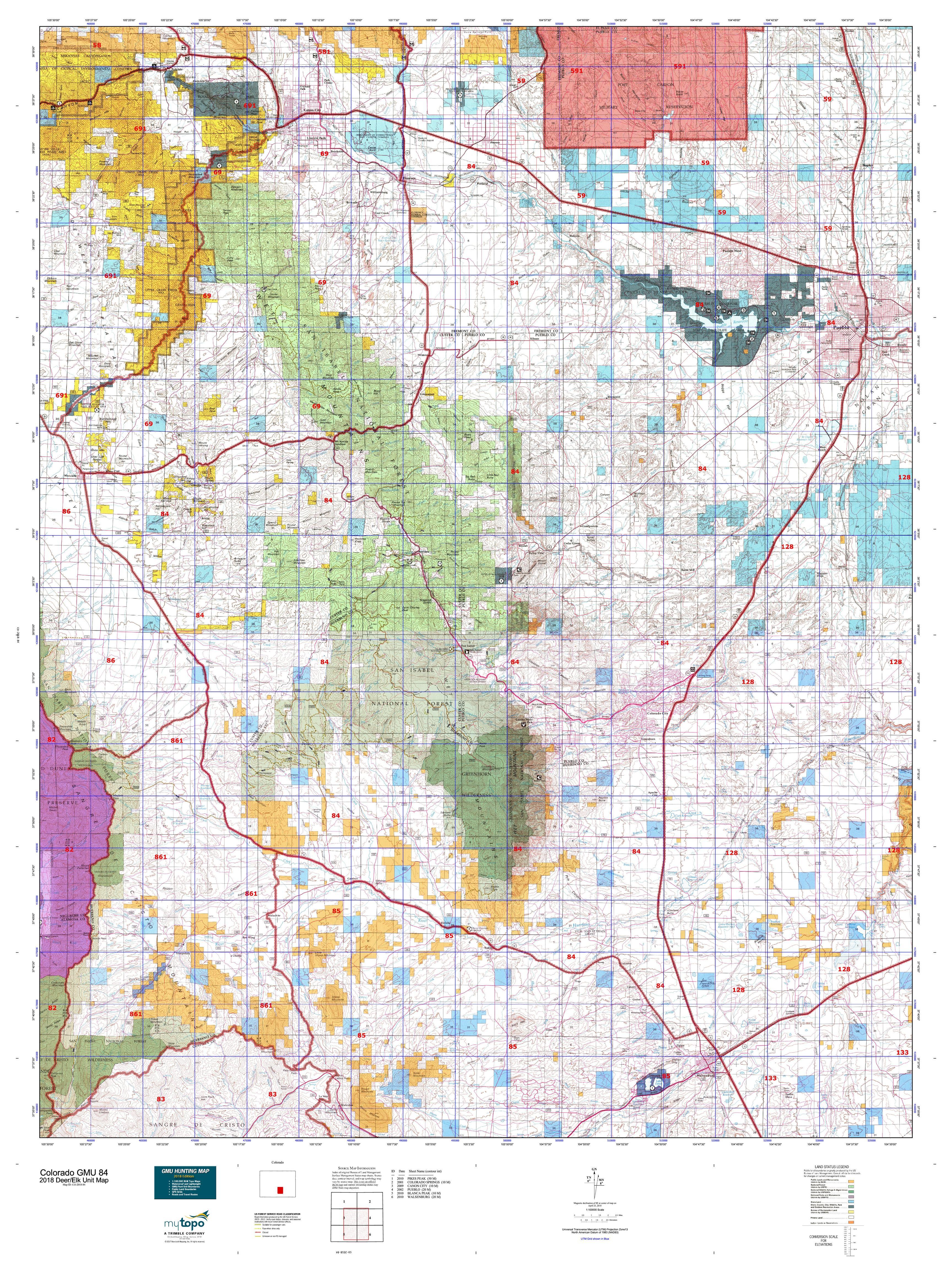 Colorado GMU 84 Map | MyTopo