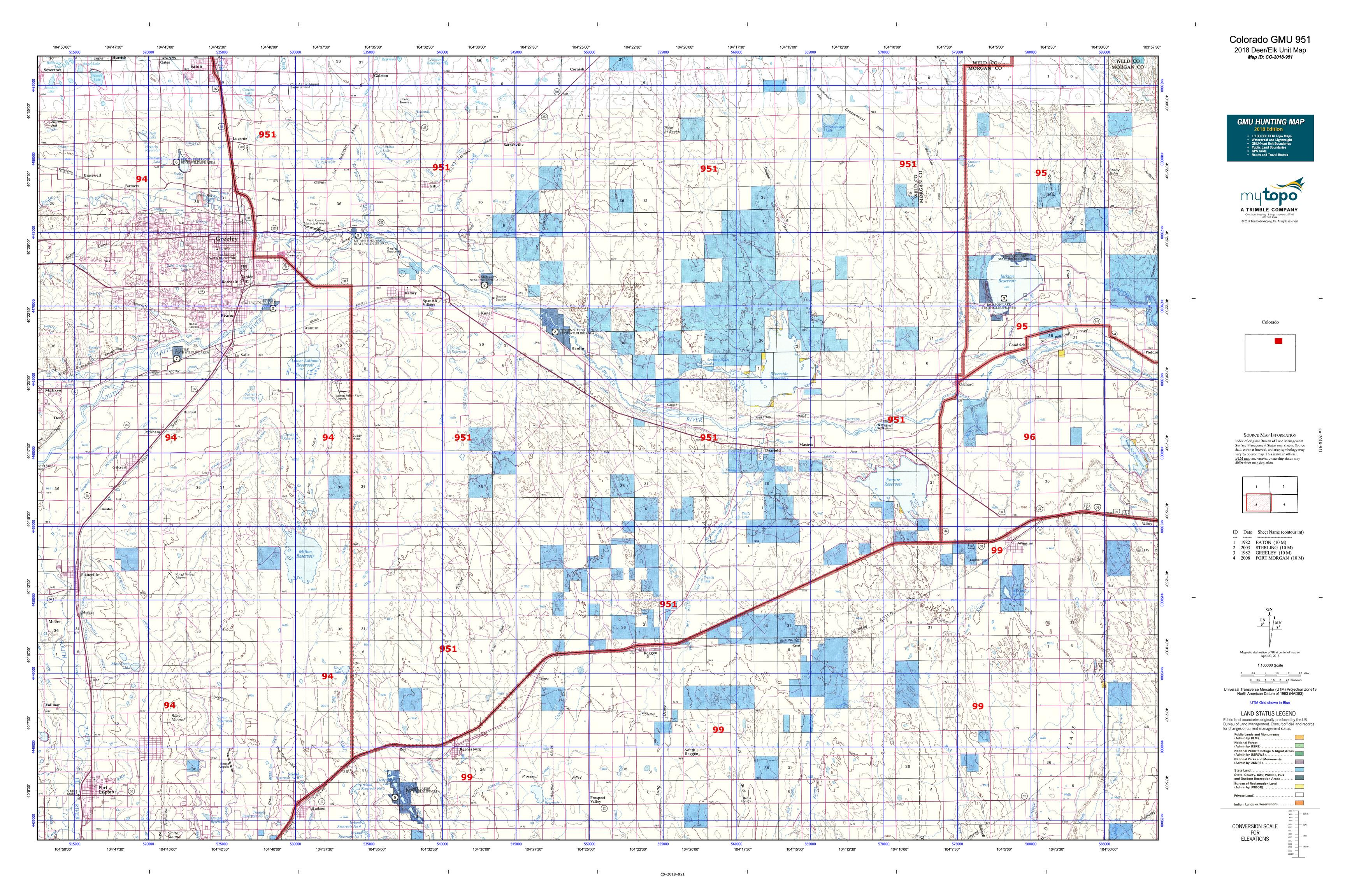Colorado GMU 951 Map | MyTopo
