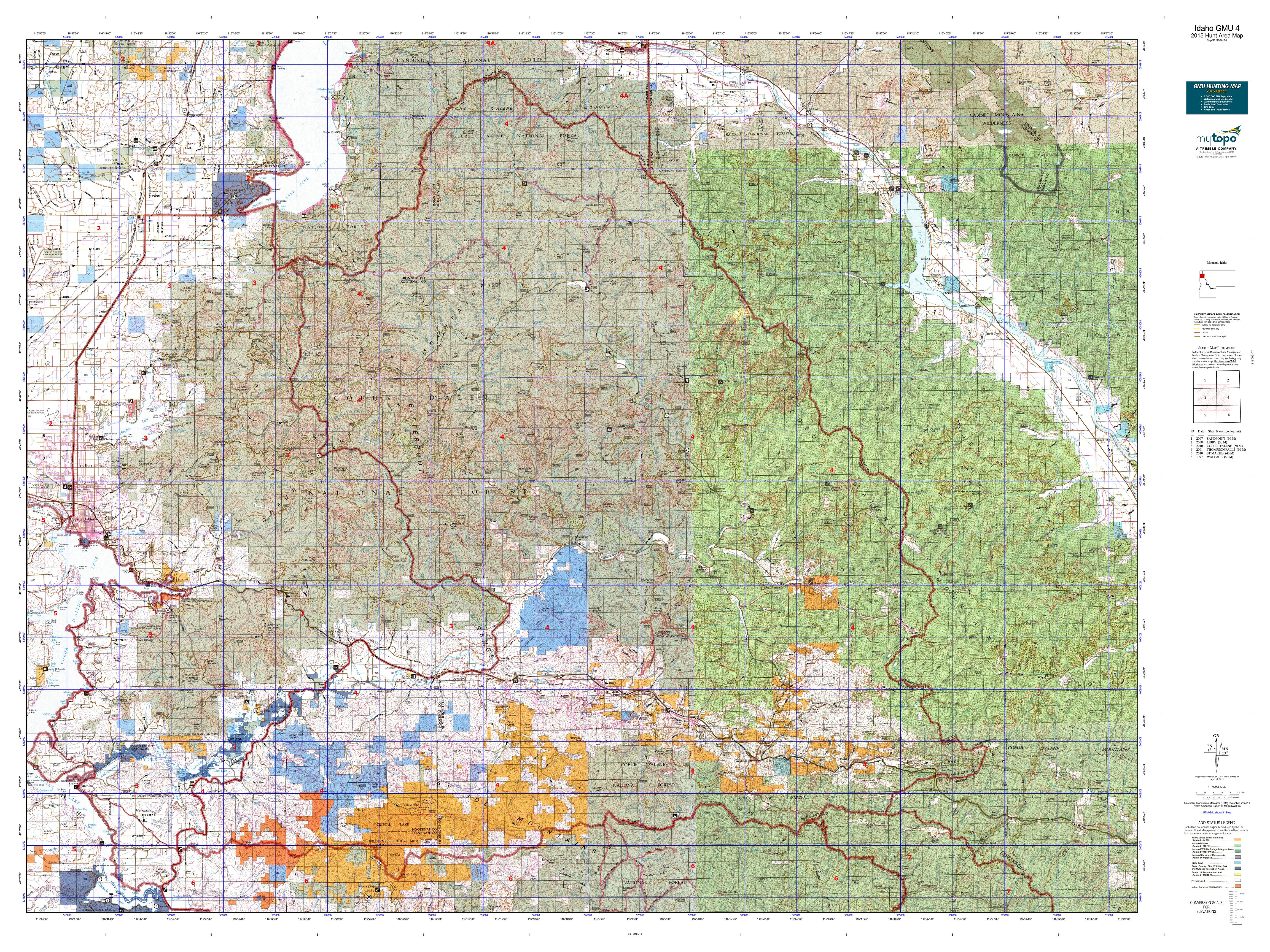 Idaho GMU 4 Map  MyTopo