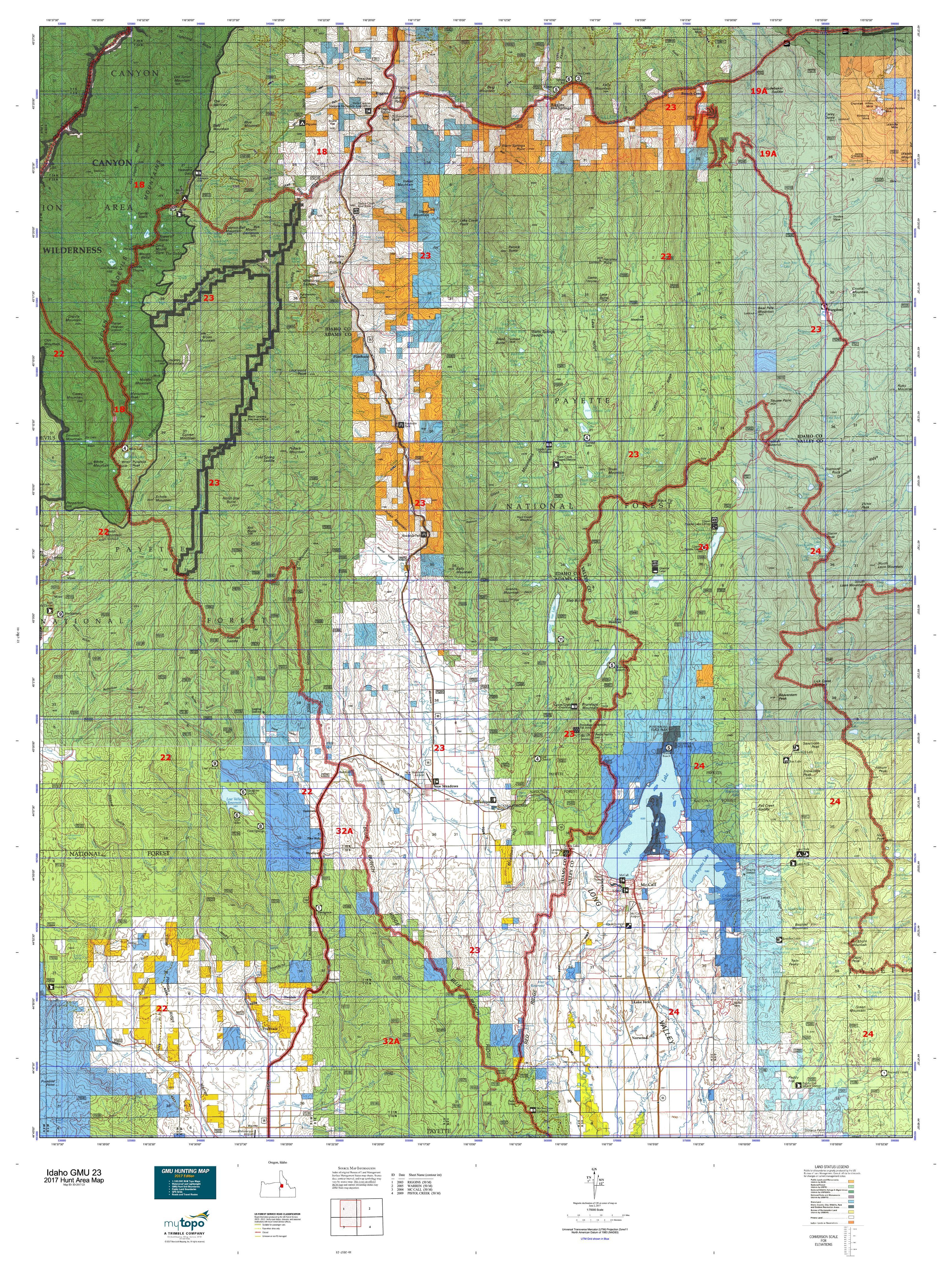 Idaho GMU 23 Map | MyTopo on idaho blm land status maps, idaho highway map oregon, azgfd unit map, washington state hunting unit map, idaho mule deer density map, idaho gmu map, co hunting unit map, nv hunt unit map, idaho cities by population, star idaho map, oregon wildlife management unit map, north fork salmon river idaho map, idaho public land map, farragut idaho map, idaho fire map, odfw hunting unit map, idaho land ownership maps, emmett idaho street map, idaho rv parks map, idaho forest service road maps,