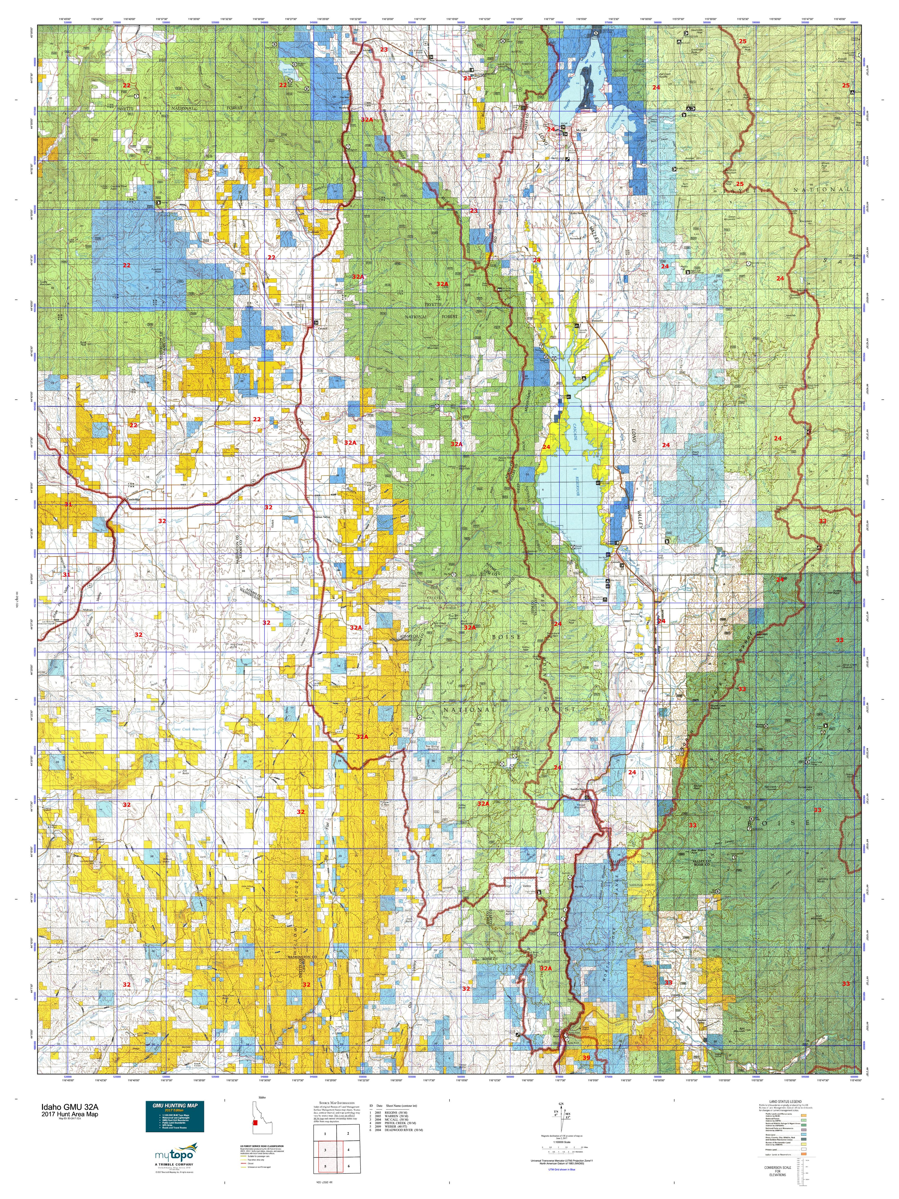 ida preview image (click to view). idaho gmu a map  mytopo