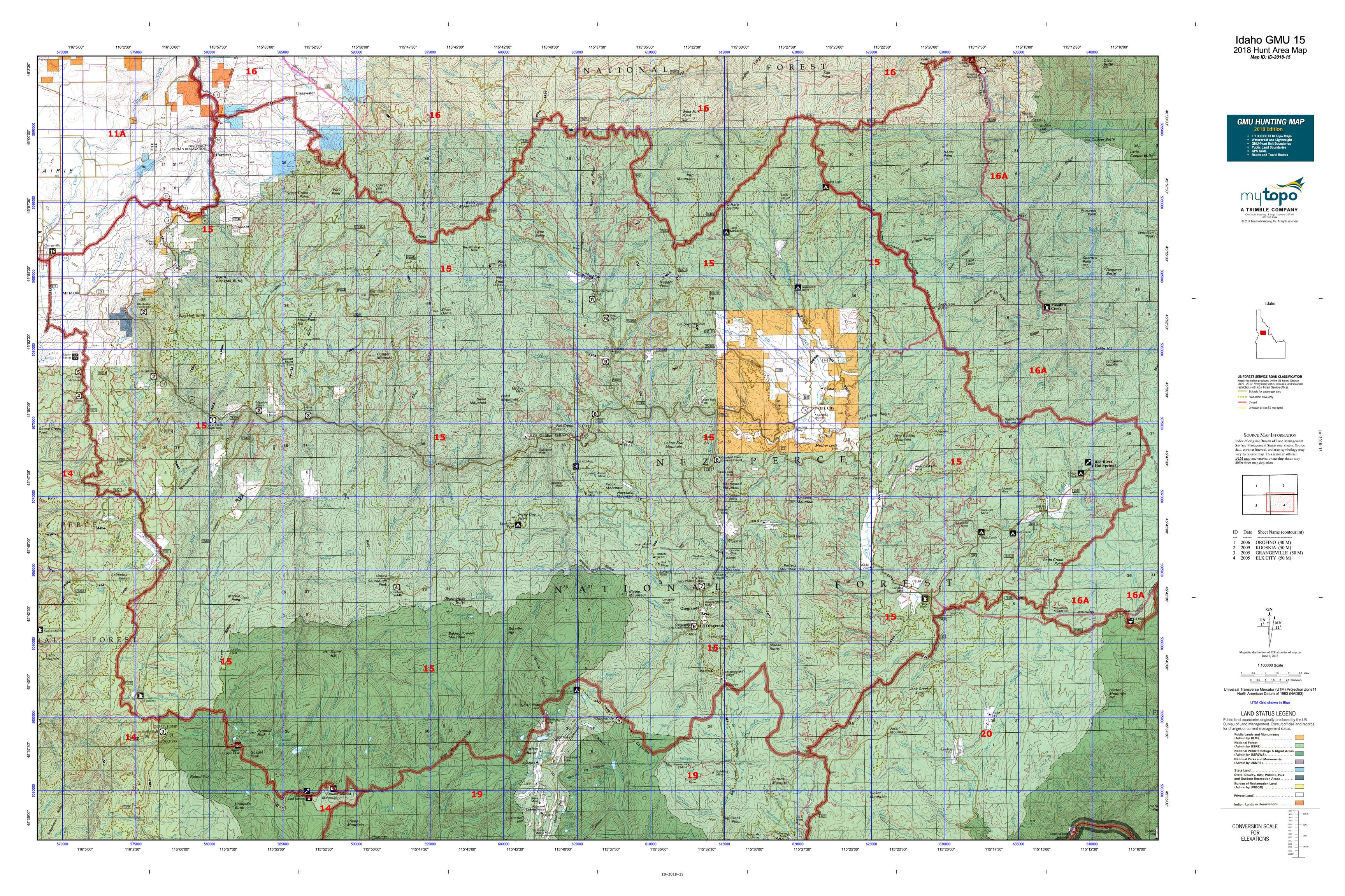 Idaho GMU 15 Map | MyTopo