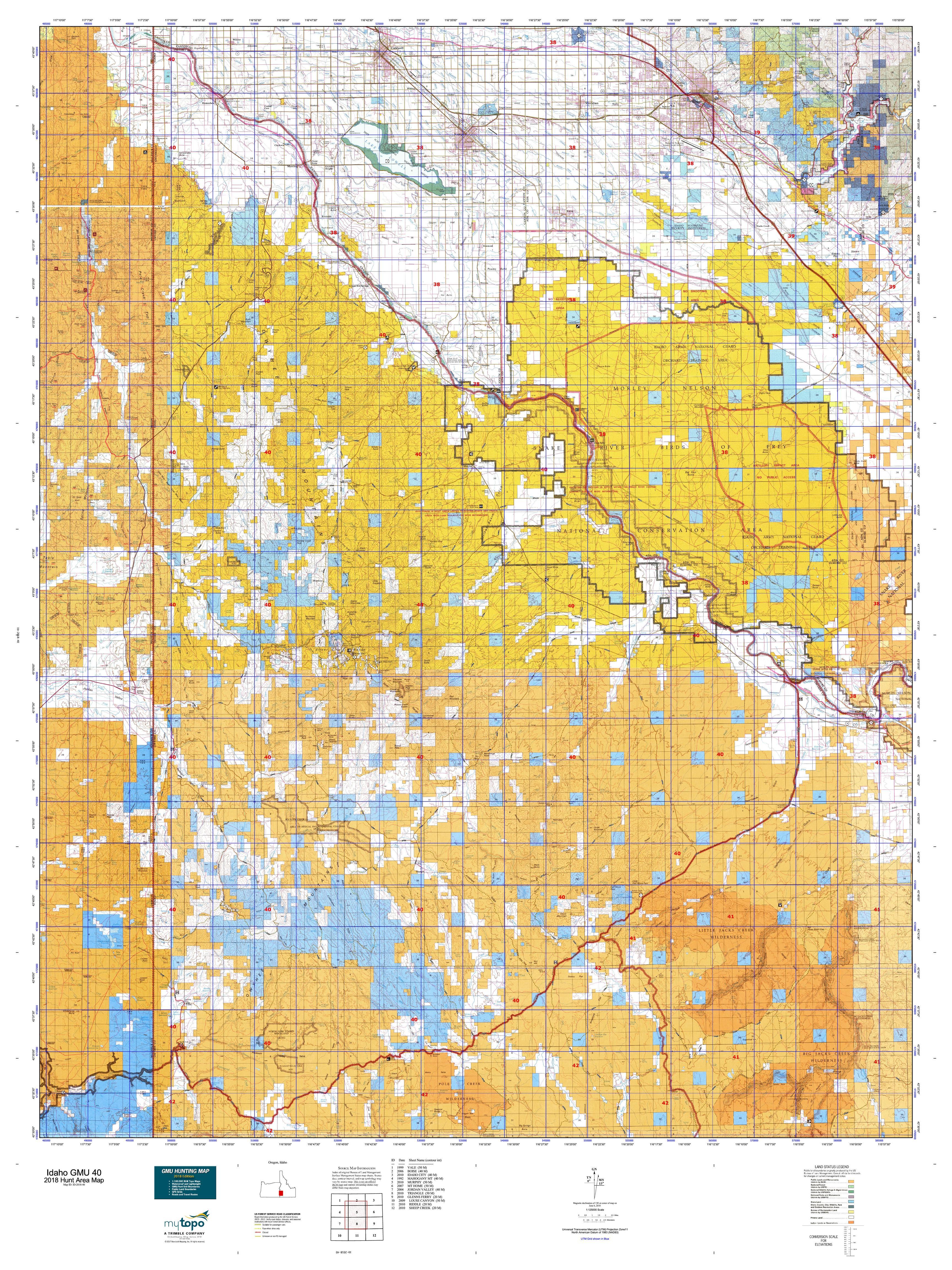 Idaho GMU 40 Map | MyTopo
