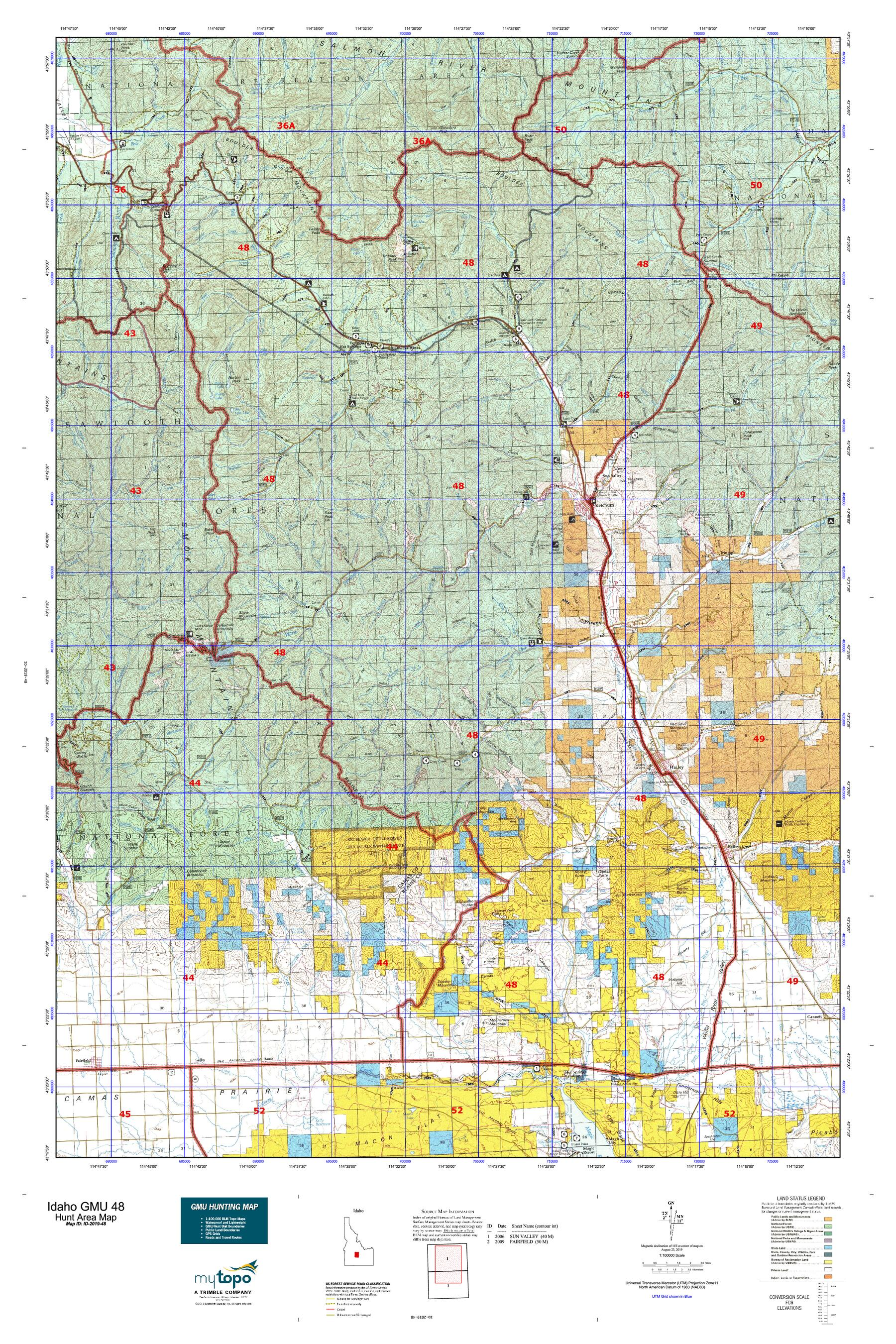 Idaho GMU 48 Map   MyTopo