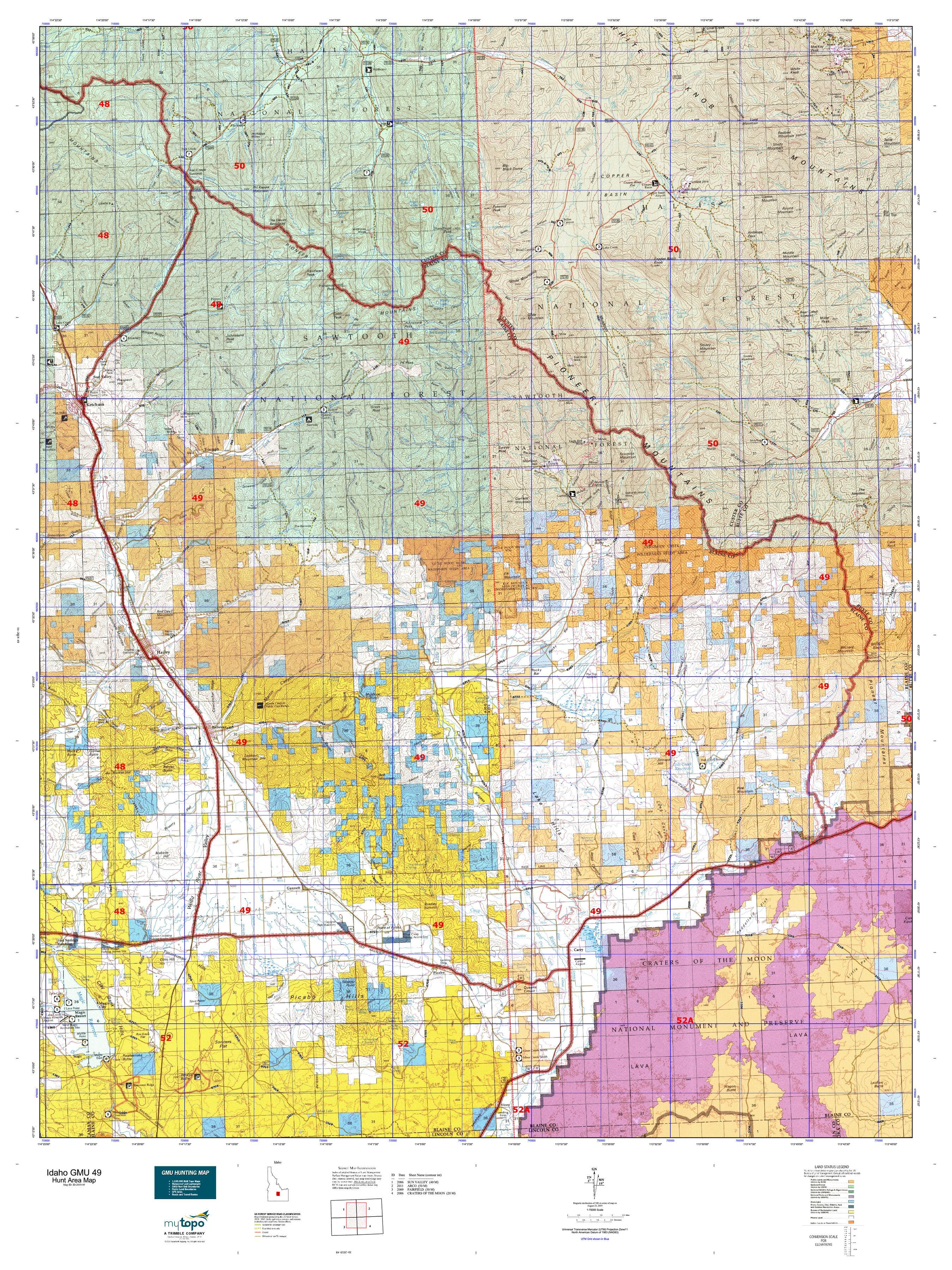 Idaho GMU 49 Map   MyTopo