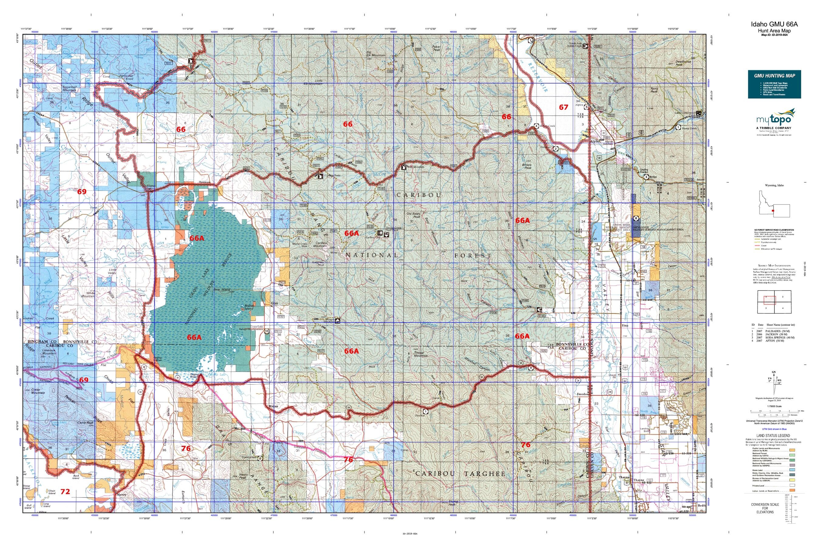 Idaho GMU 66A Map   MyTopo