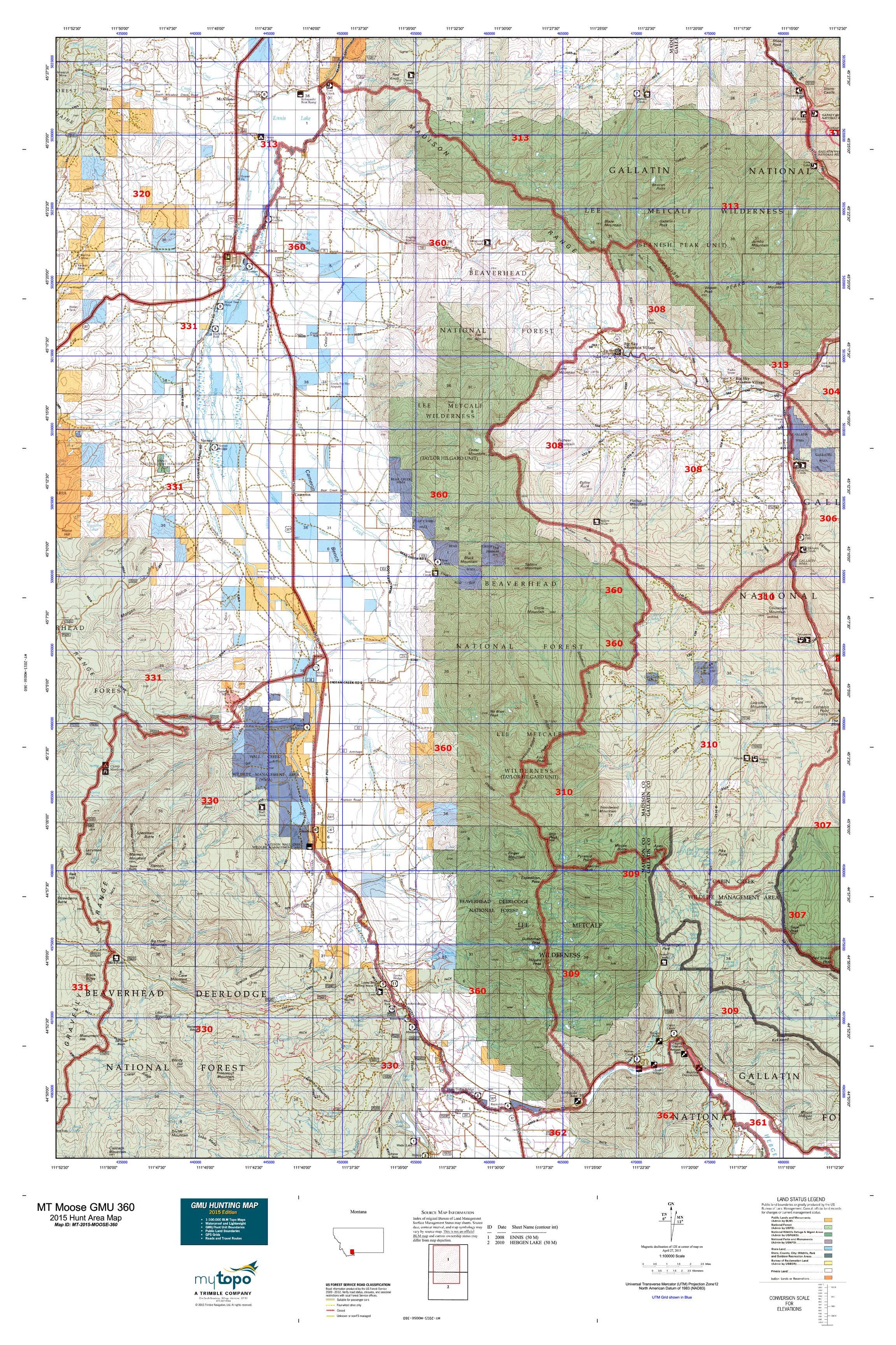 Maps 360.Mt Moose Gmu 360 Map Mytopo