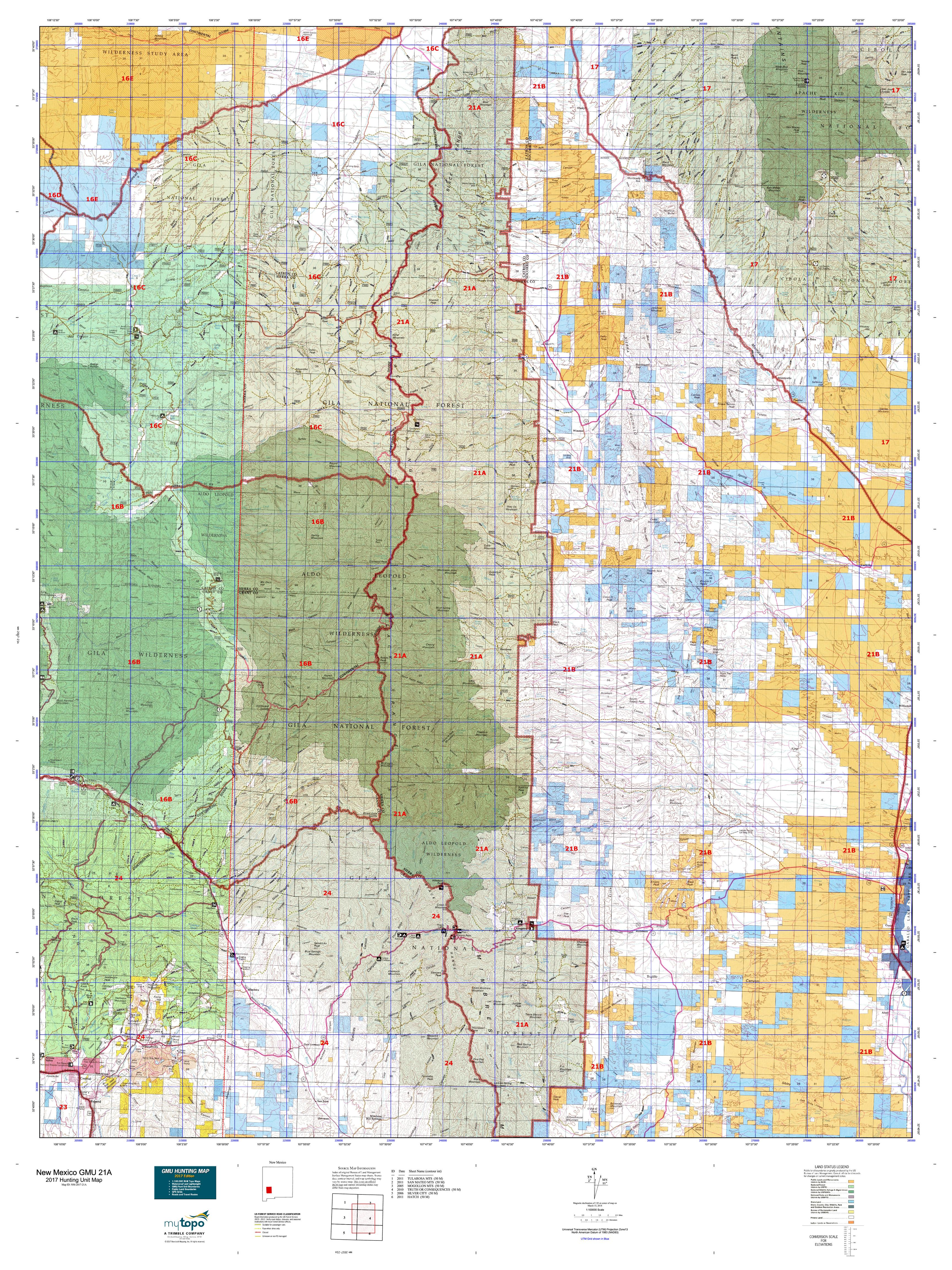 New Mexico GMU A Map MyTopo - Detailed map of new mexico