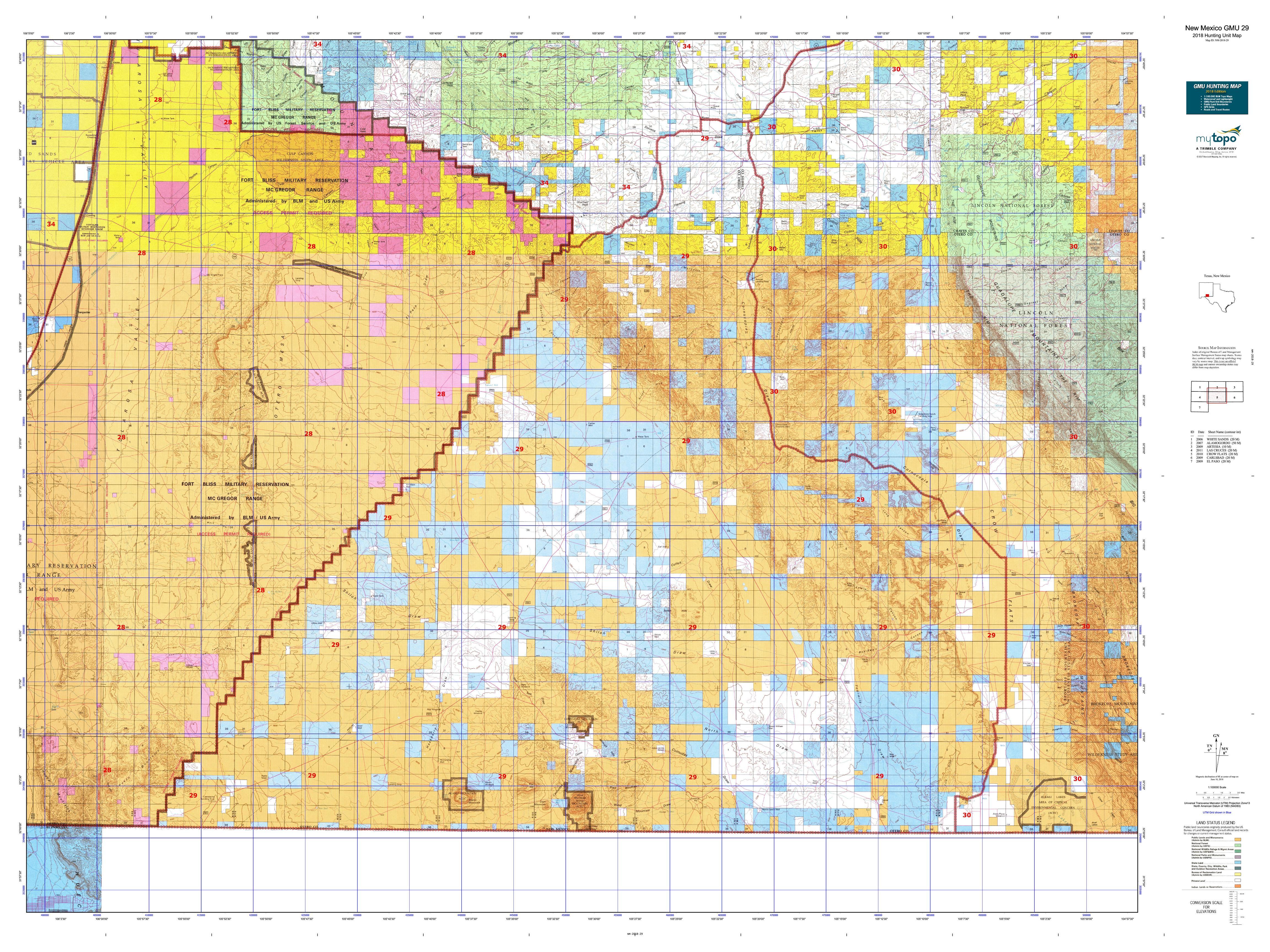 New Mexico Gmu 29 Map Mytopo